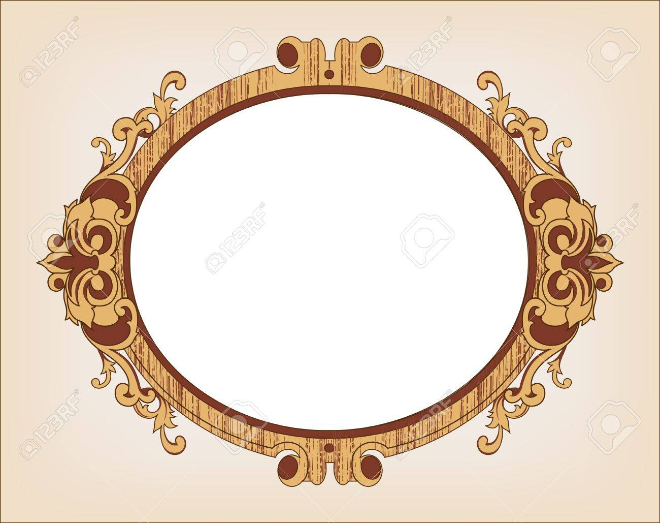 Decorative oval vintage frame Stock Vector - 17879055