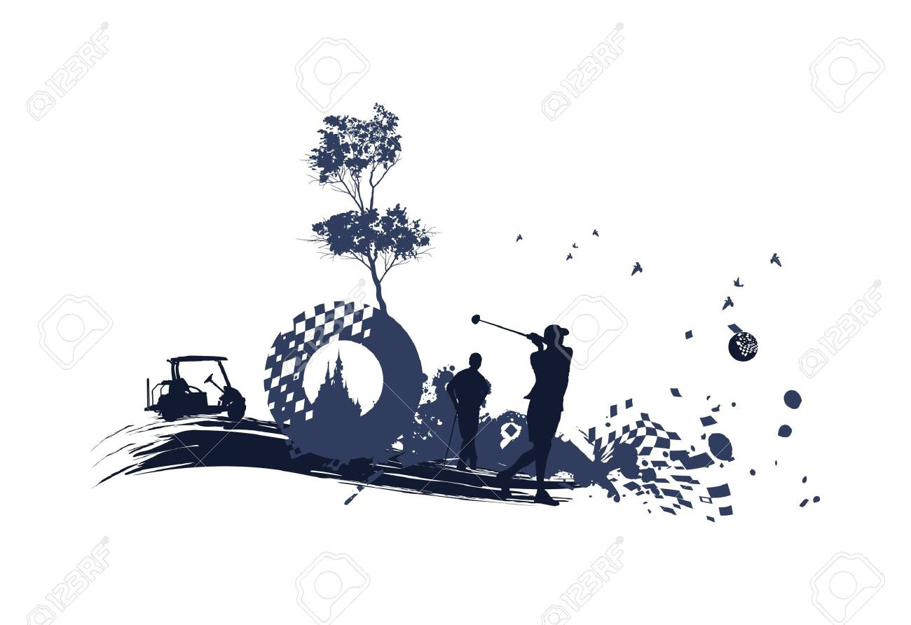 Different Golf Silhouettes Royalty Free Cliparts Vectors And Stock
