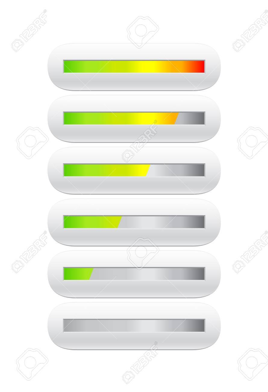 loading bar from green to red - 19267742