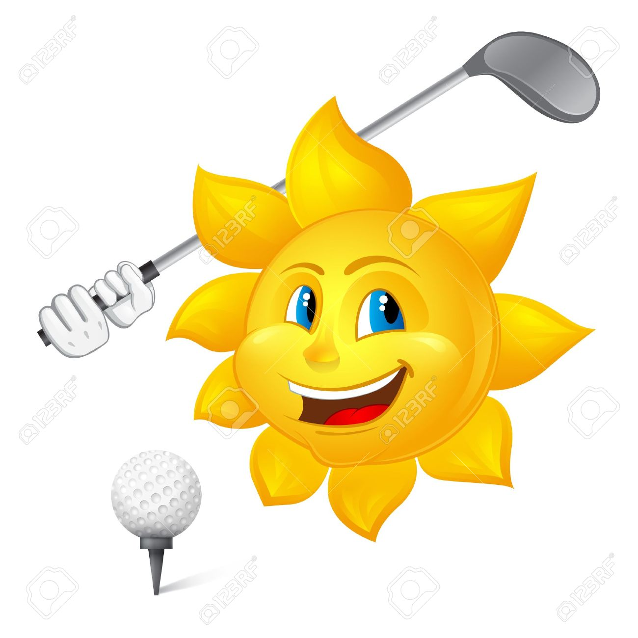 Image result for sun golf cartoon