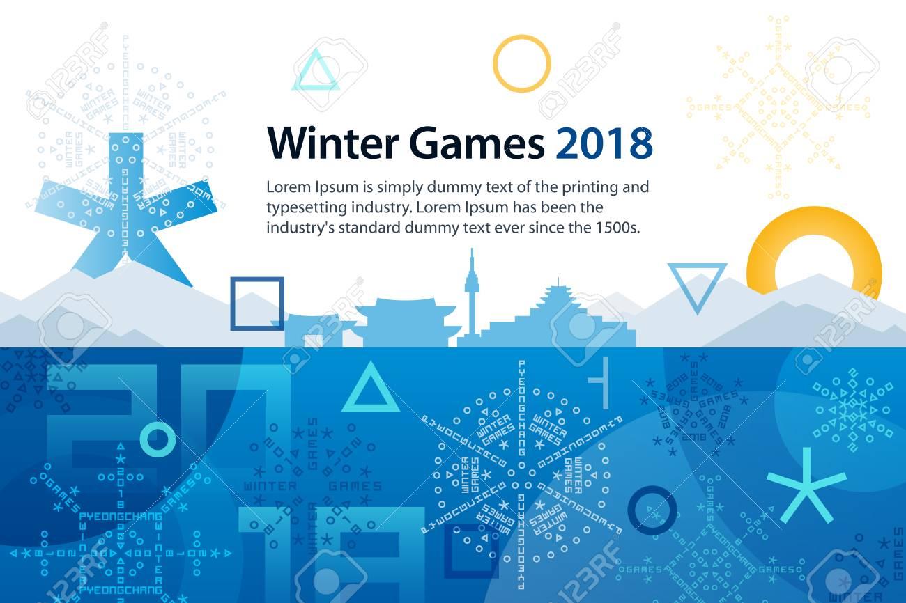 Winter sports games in republic of korea 2018 symbols of sports winter sports games in republic of korea 2018 symbols of sports competitions colorful abstract biocorpaavc Choice Image