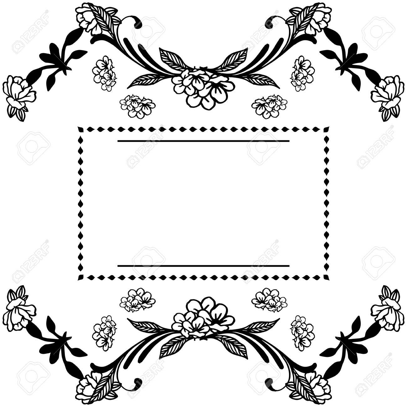 Illustration of floral frame - 143584798