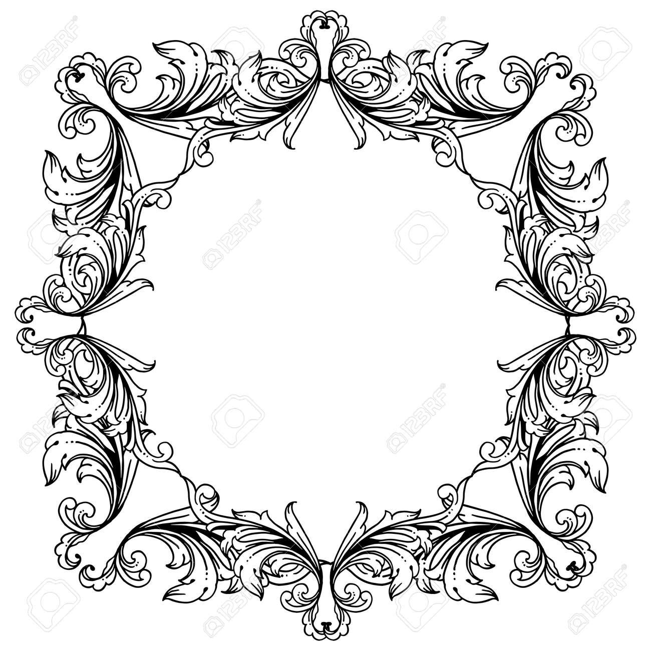 Illustration of floral frame - 145151203