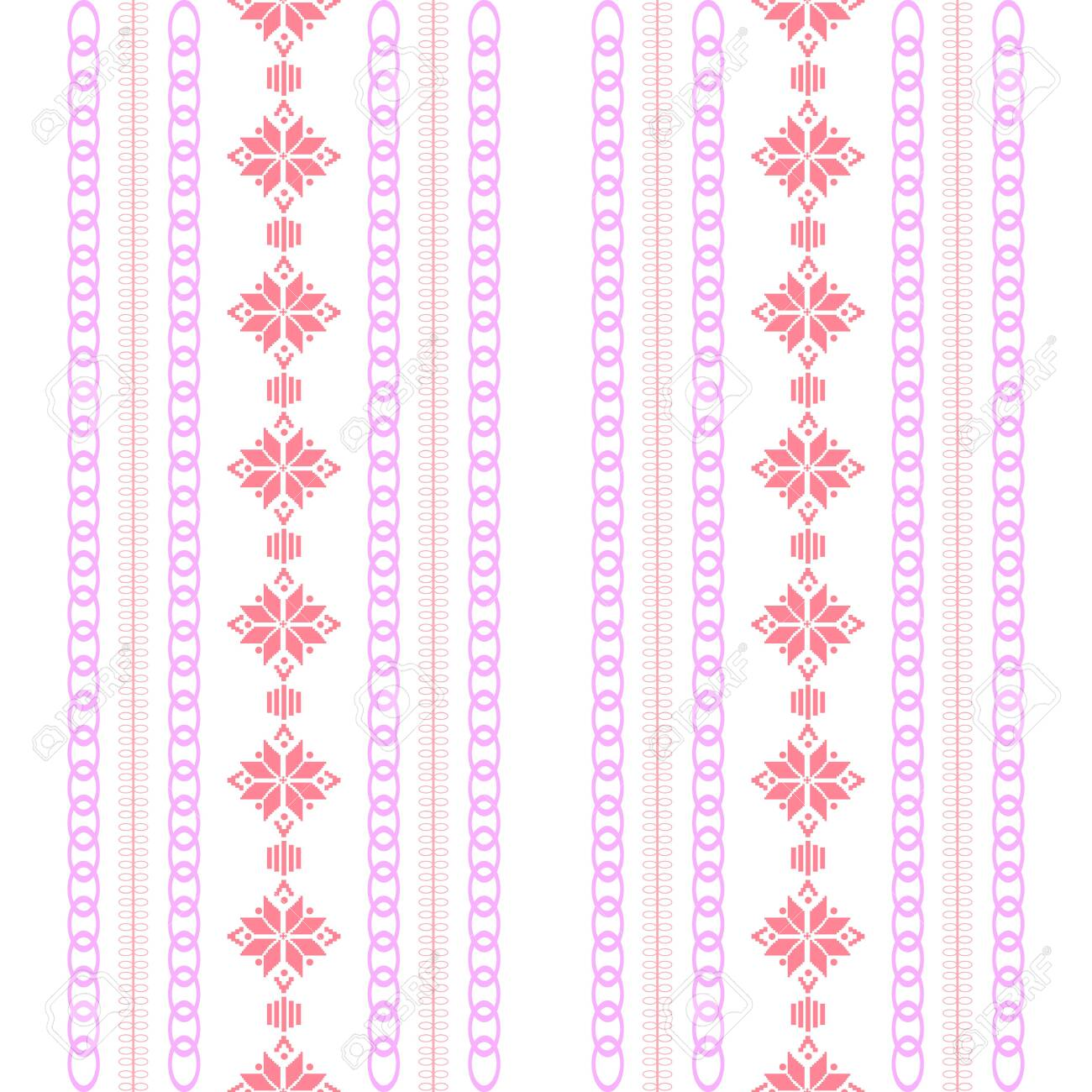 Modern stitches pattern on embroidery design for living room wall decor. Collection - 146709585