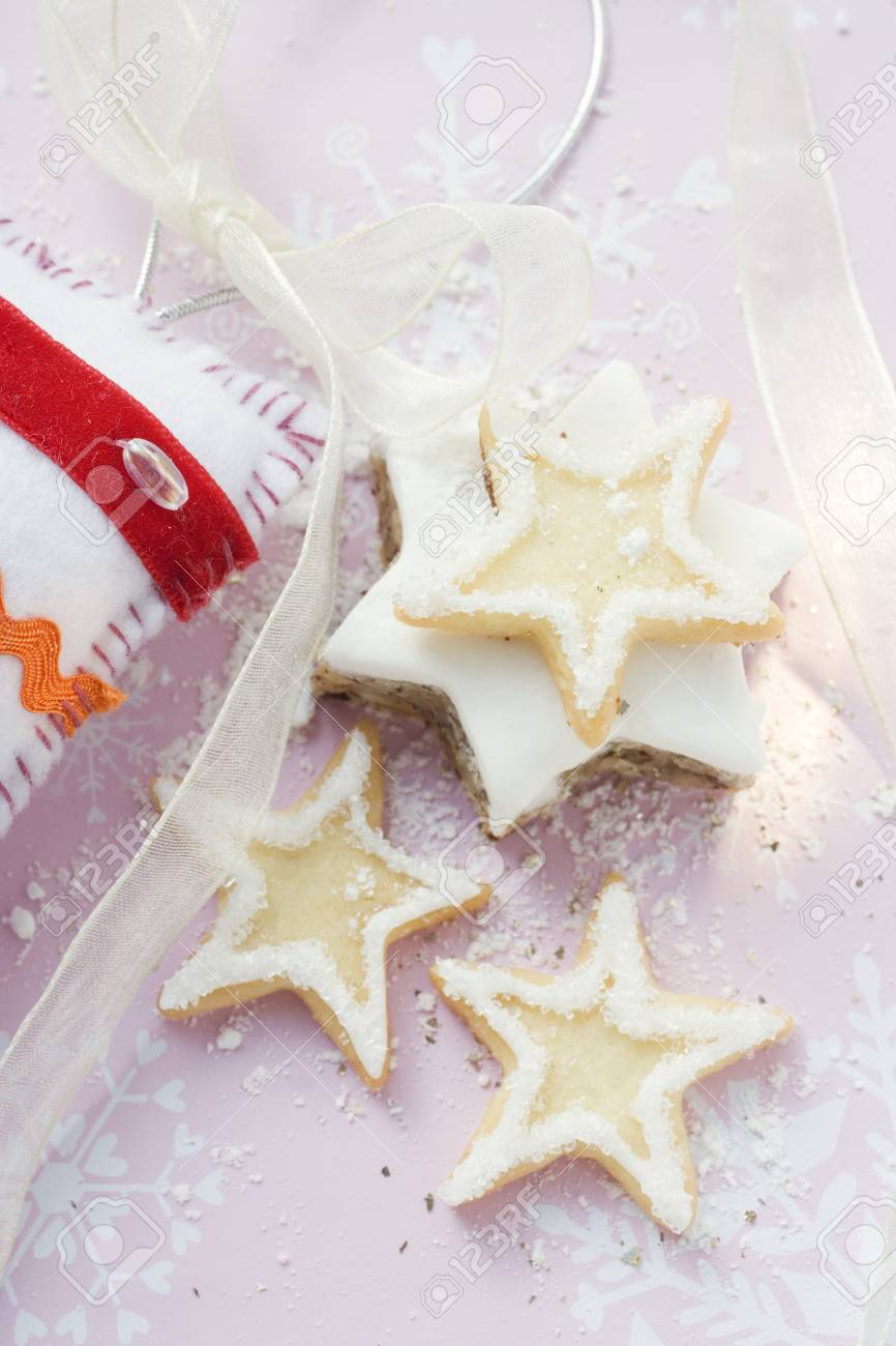 Assorted Star Biscuits For Christmas