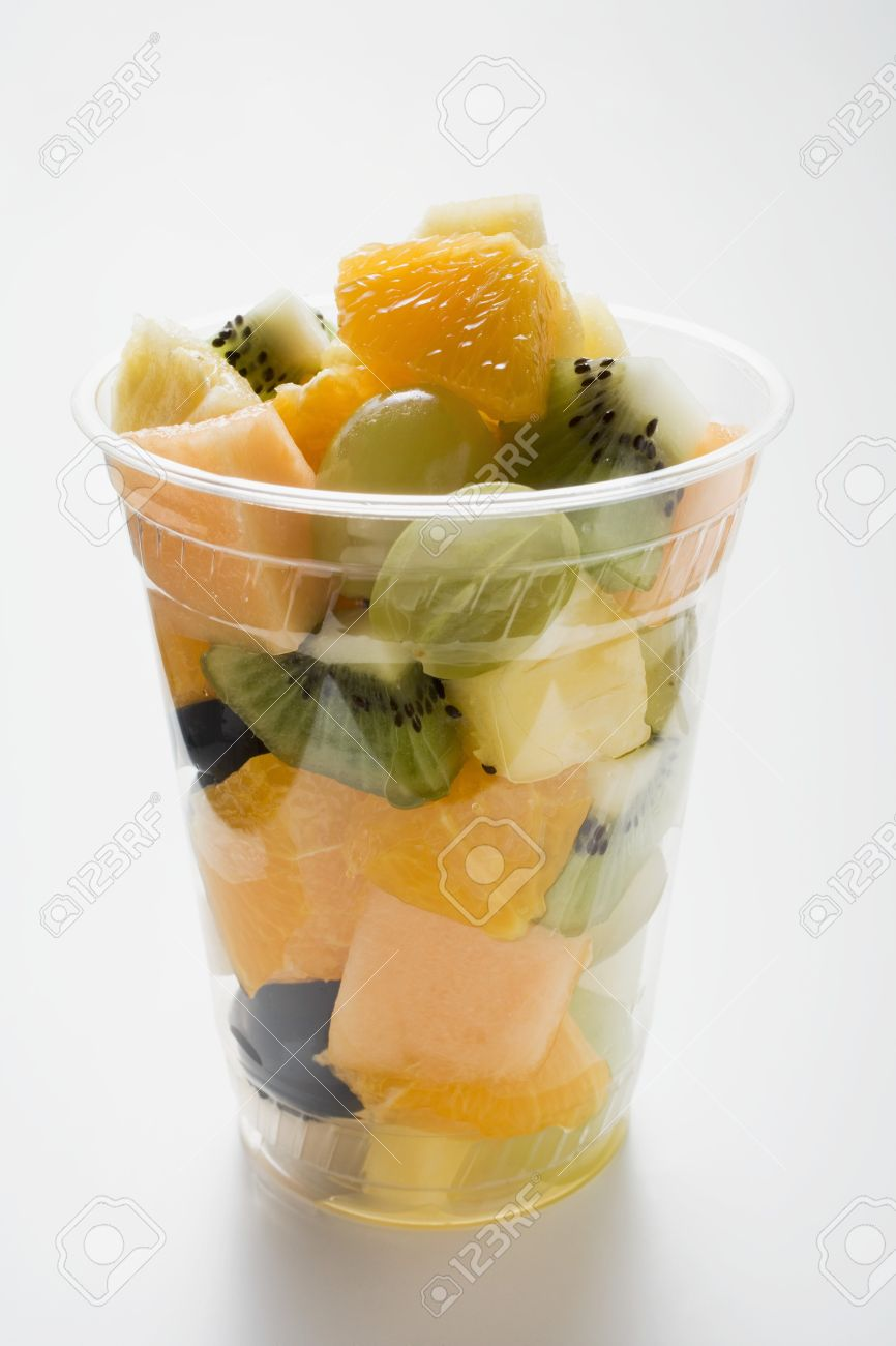Image result for fruit salad in a plastic cup