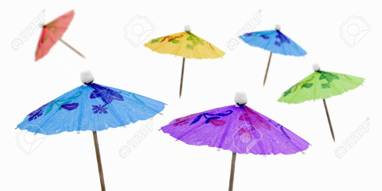 Charmant Coloured Cocktail Umbrellas Stock Photo   32355209