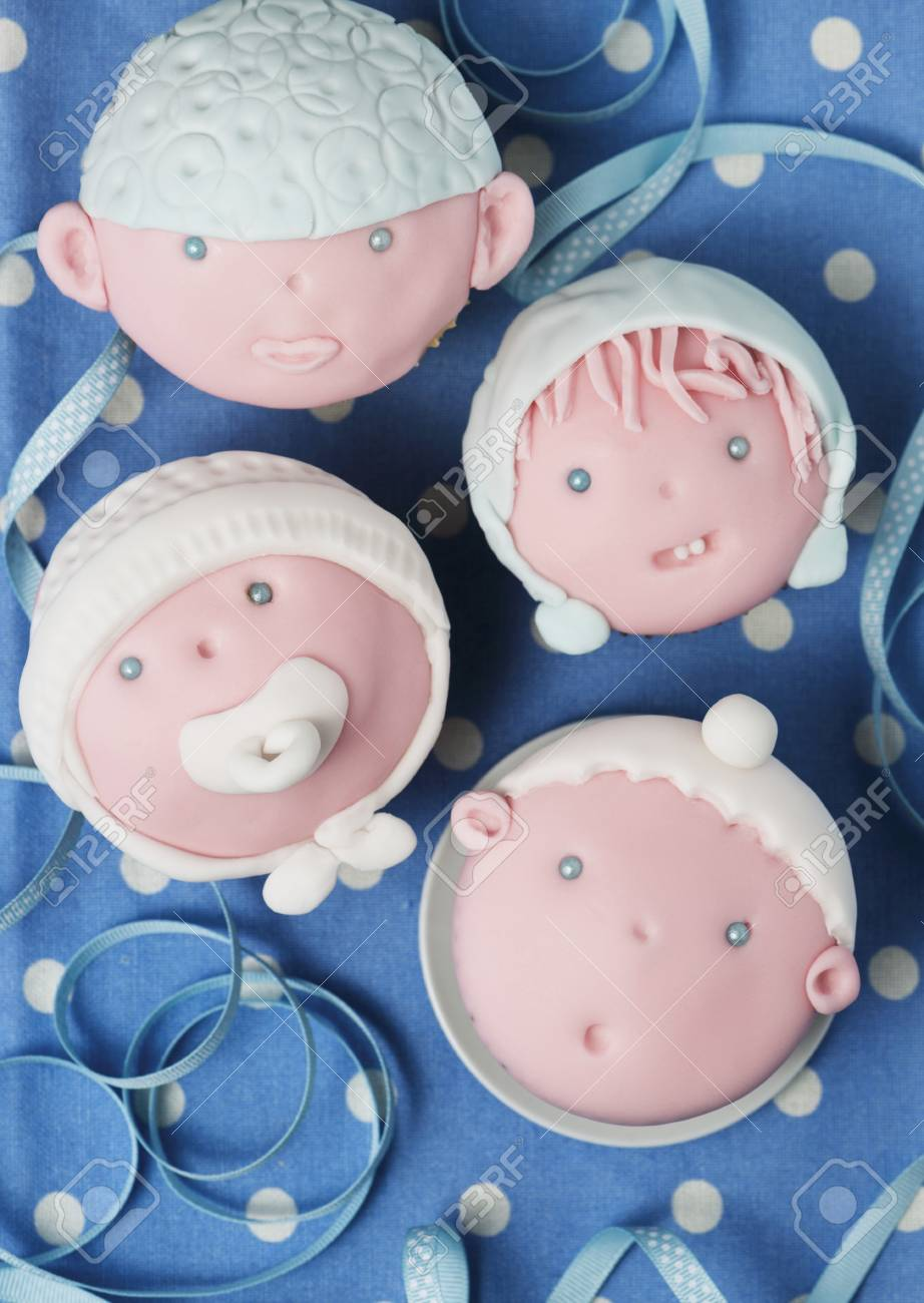 Baby Cupcake Faces Cupcakes Decorated With Baby