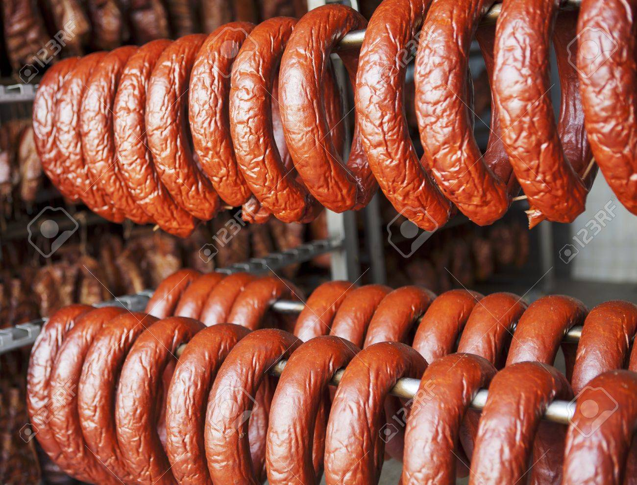 Image result for sausages hanging in smokehouse