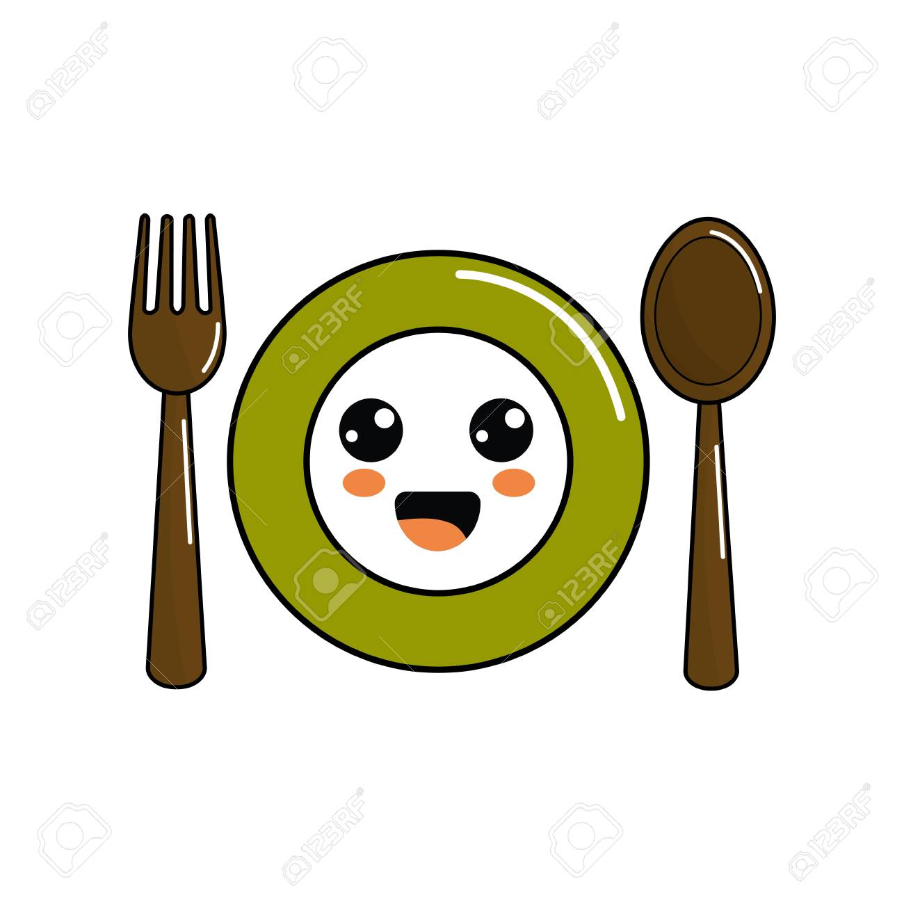 Spoon Clipart Png - Plate And Silverware Clipart, Transparent Png ,  Transparent Png Image - PNGitem