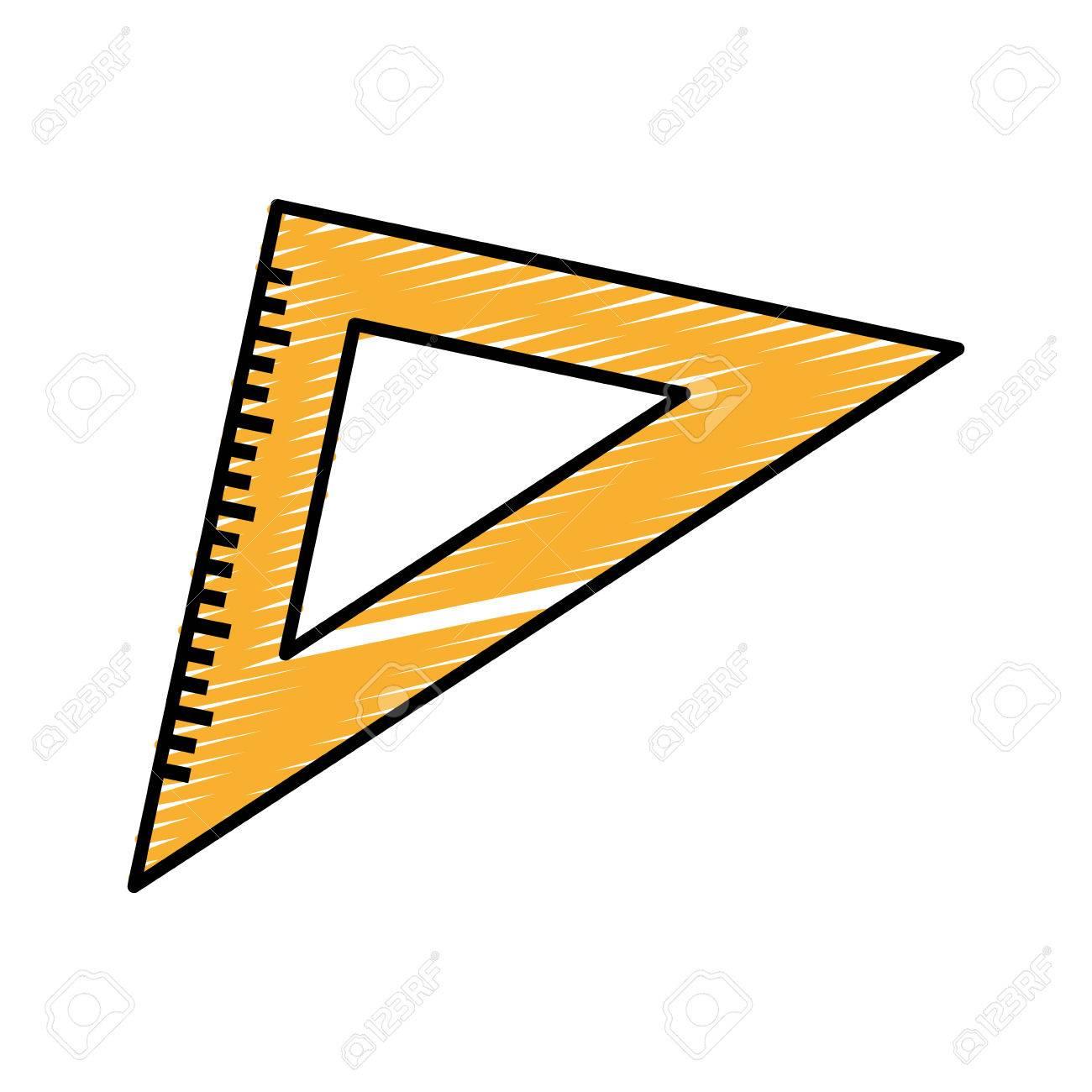 三角定規ツールベクトル イラスト デザインを勉強するにはのイラスト