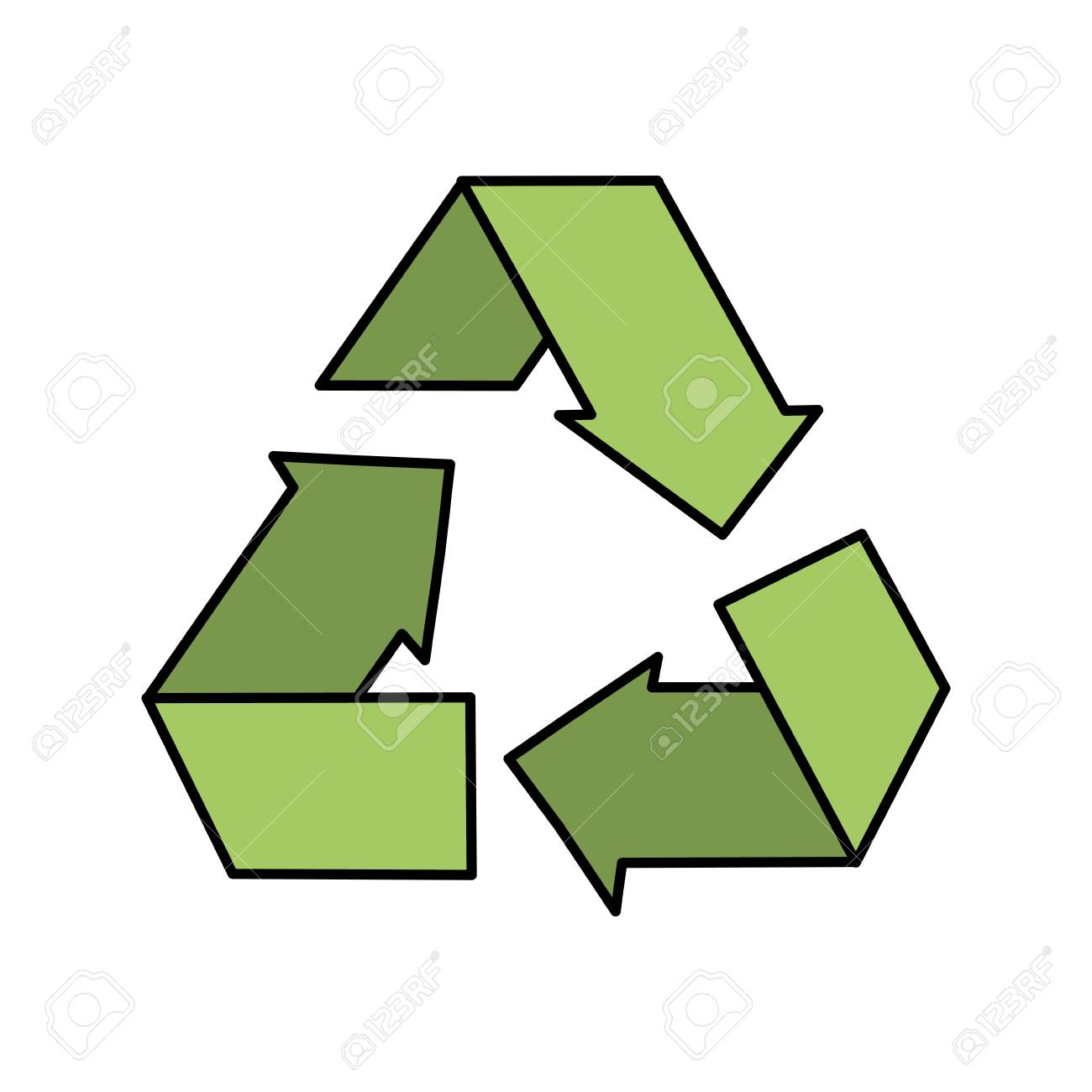 Reduce Recycle And Reuse Environment Symbol Royalty Free Cliparts