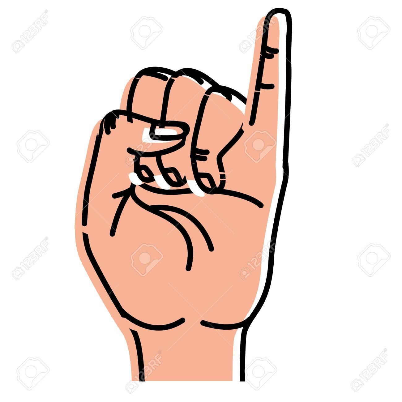 Süße Hand Mit Pinky Bis Symbol Lizenzfrei Nutzbare Vektorgrafiken ...