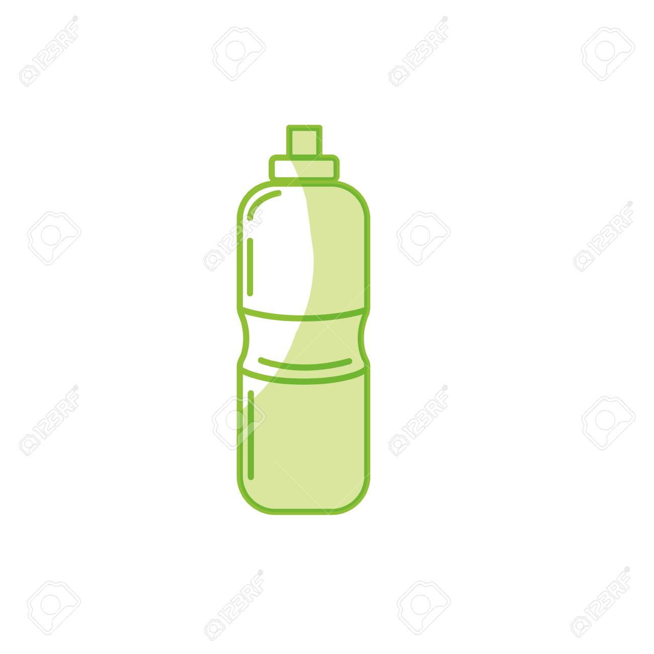 silhouette bottle of water to reshness in the gym royalty free