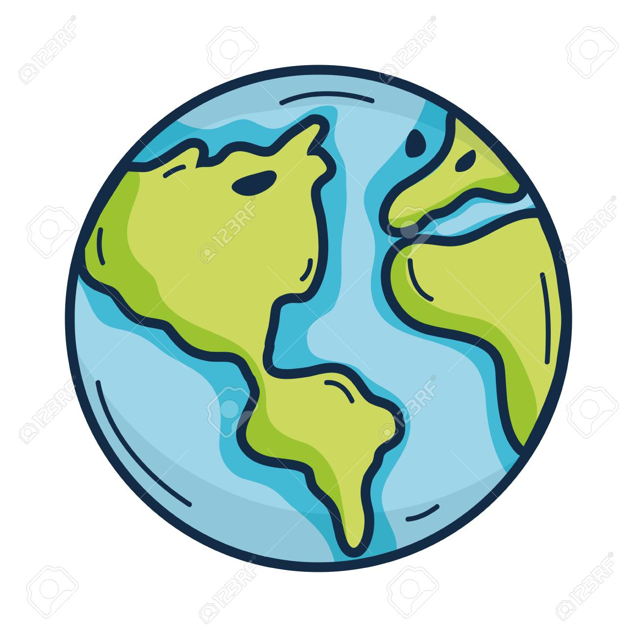 Earth Planet To Natural Ecology Care Royalty Free Cliparts Vectors And Stock Illustration Image 79888917