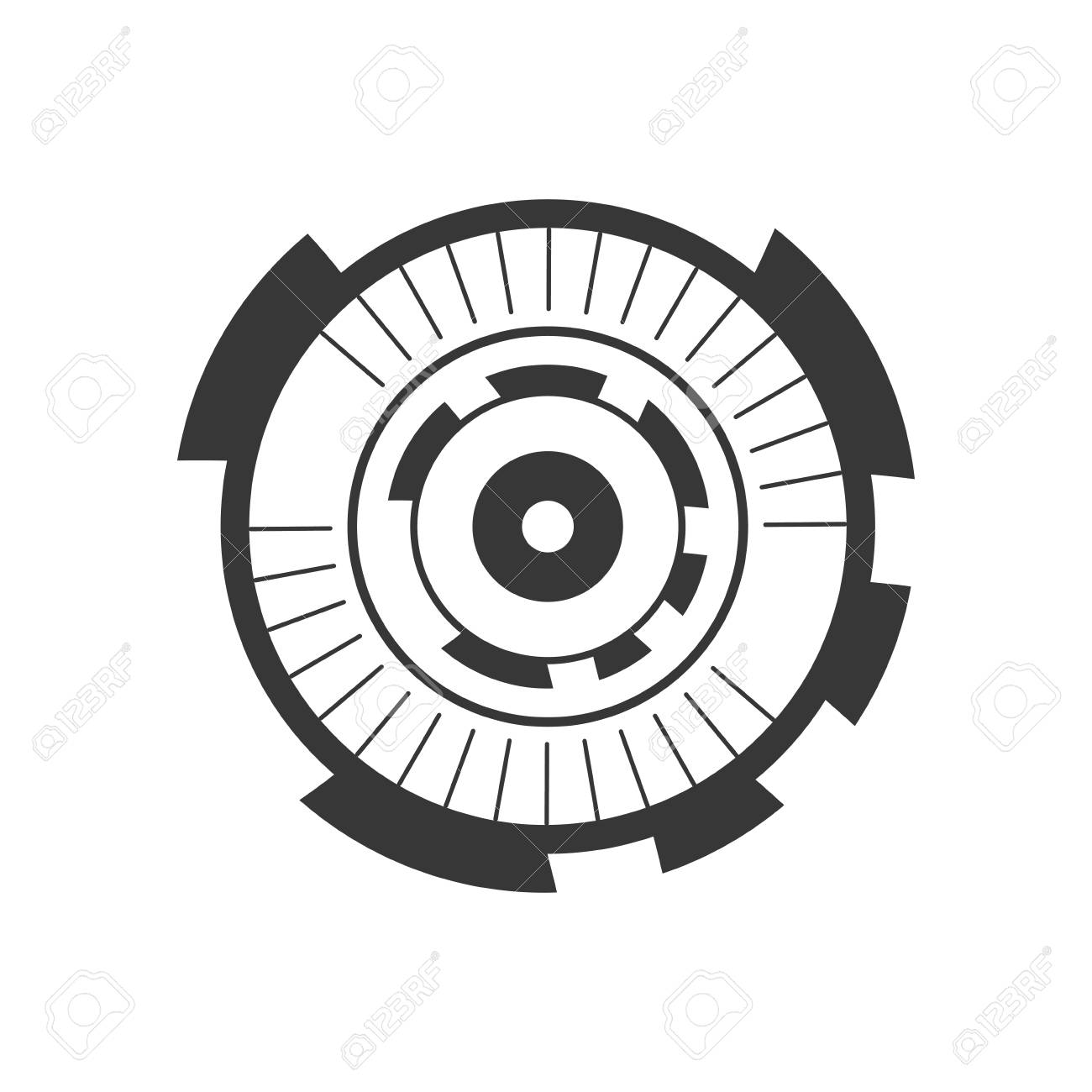 eyeball connection in the digital interface and cyberspace vector rh 123rf com eyeball vector image eyeball vector image
