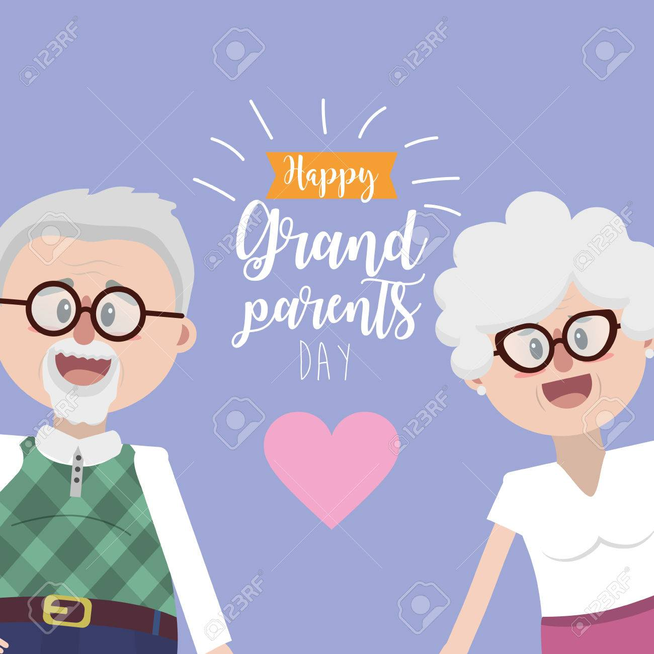 grandparents together with glasses and hairstyle - 84362537