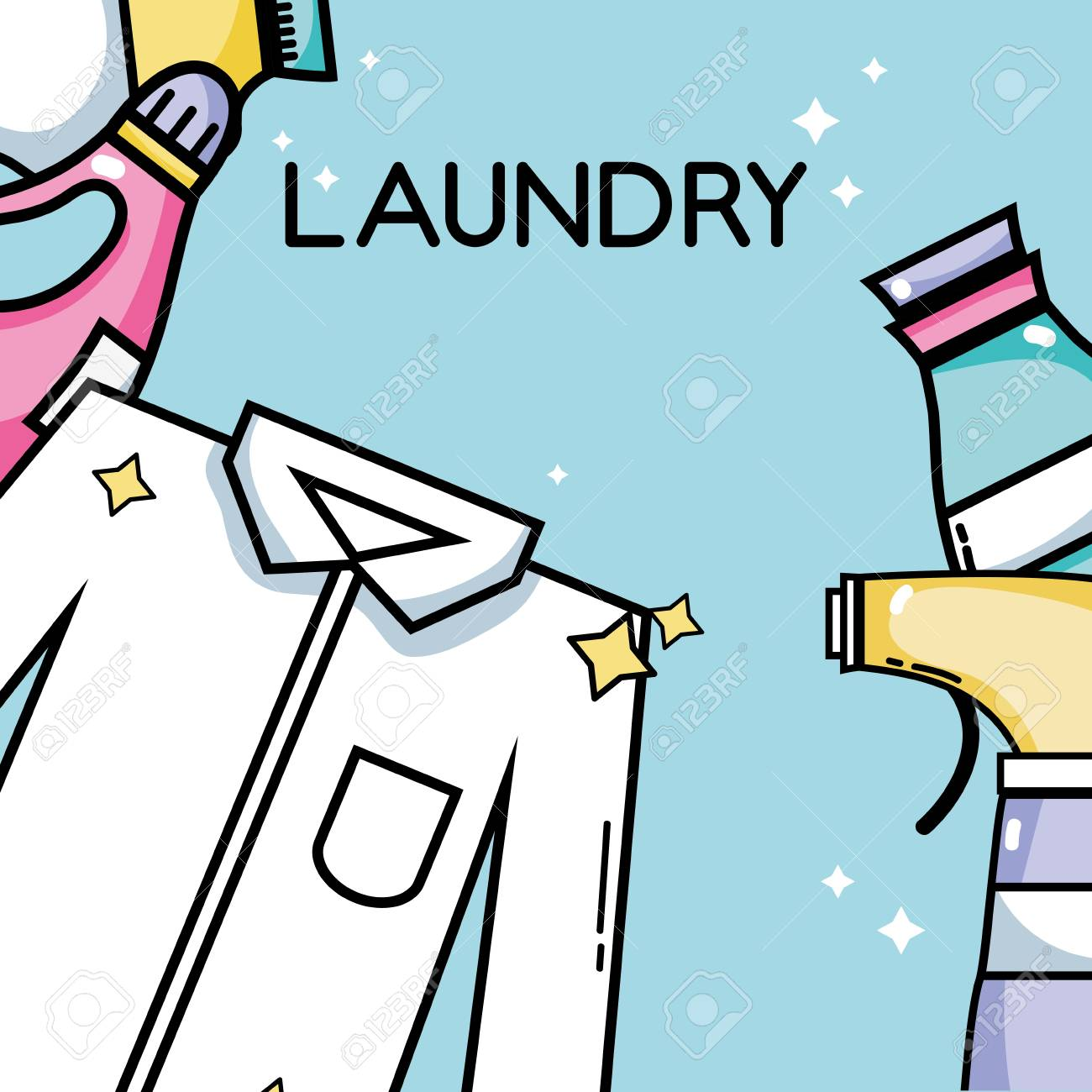 laundry equipment to clean the clothes and housework - 84892434