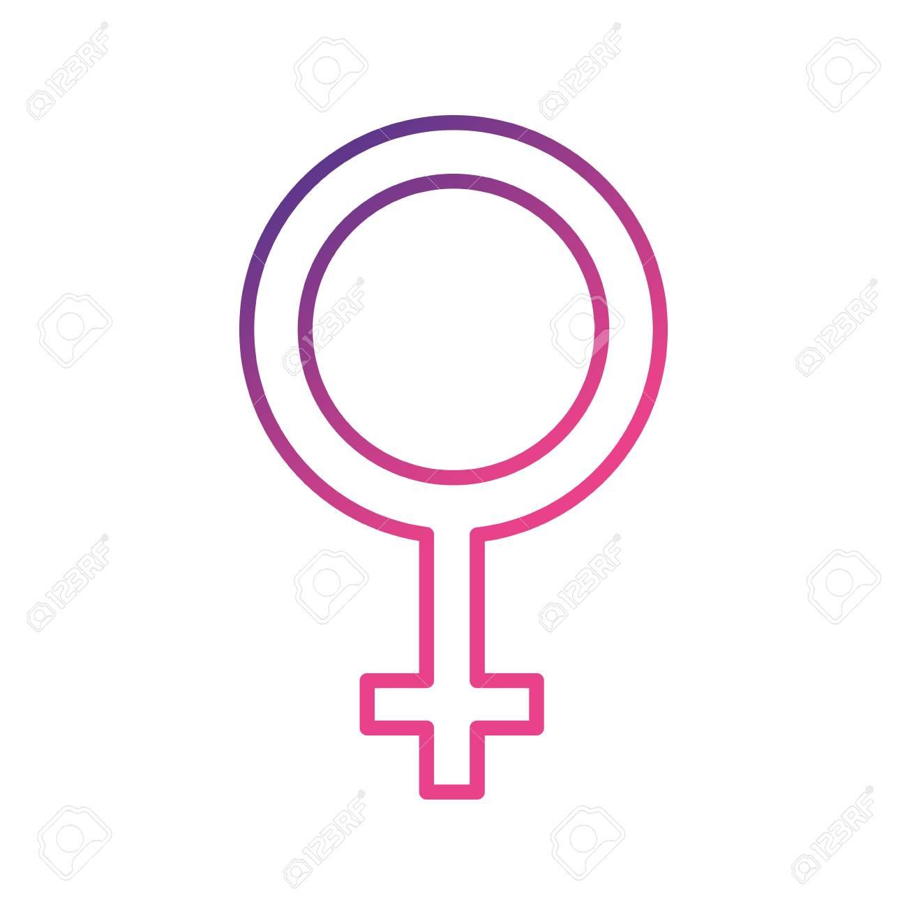 Female Gender Symbol To Special Event Vector Illustration Royalty