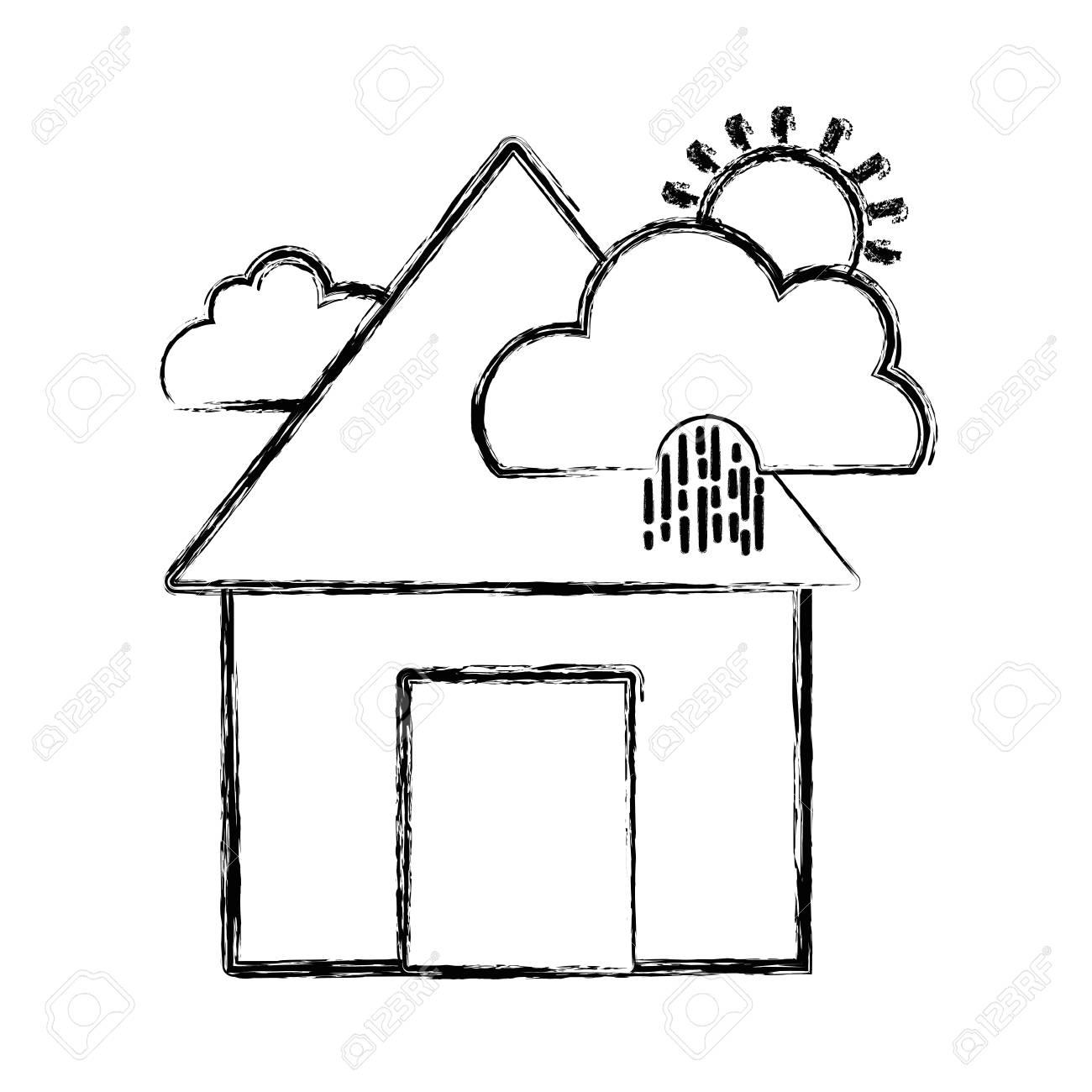 House in Clouds Clip Art
