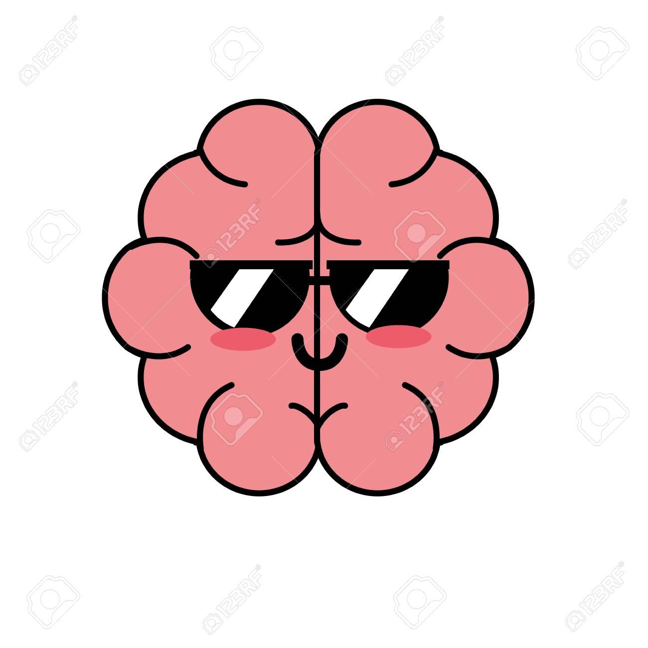 Lindo Y Divertido órgano De Anatomía Del Cerebro Ilustraciones ...