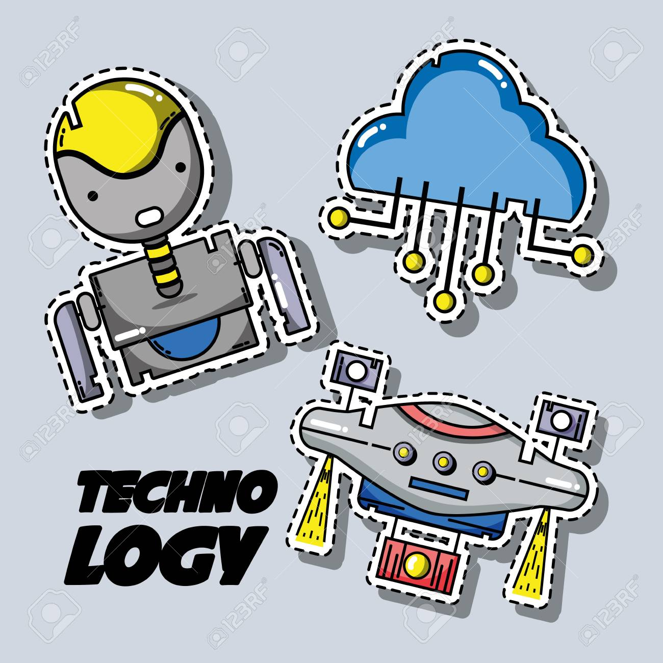 set technology patches data information - 90186530