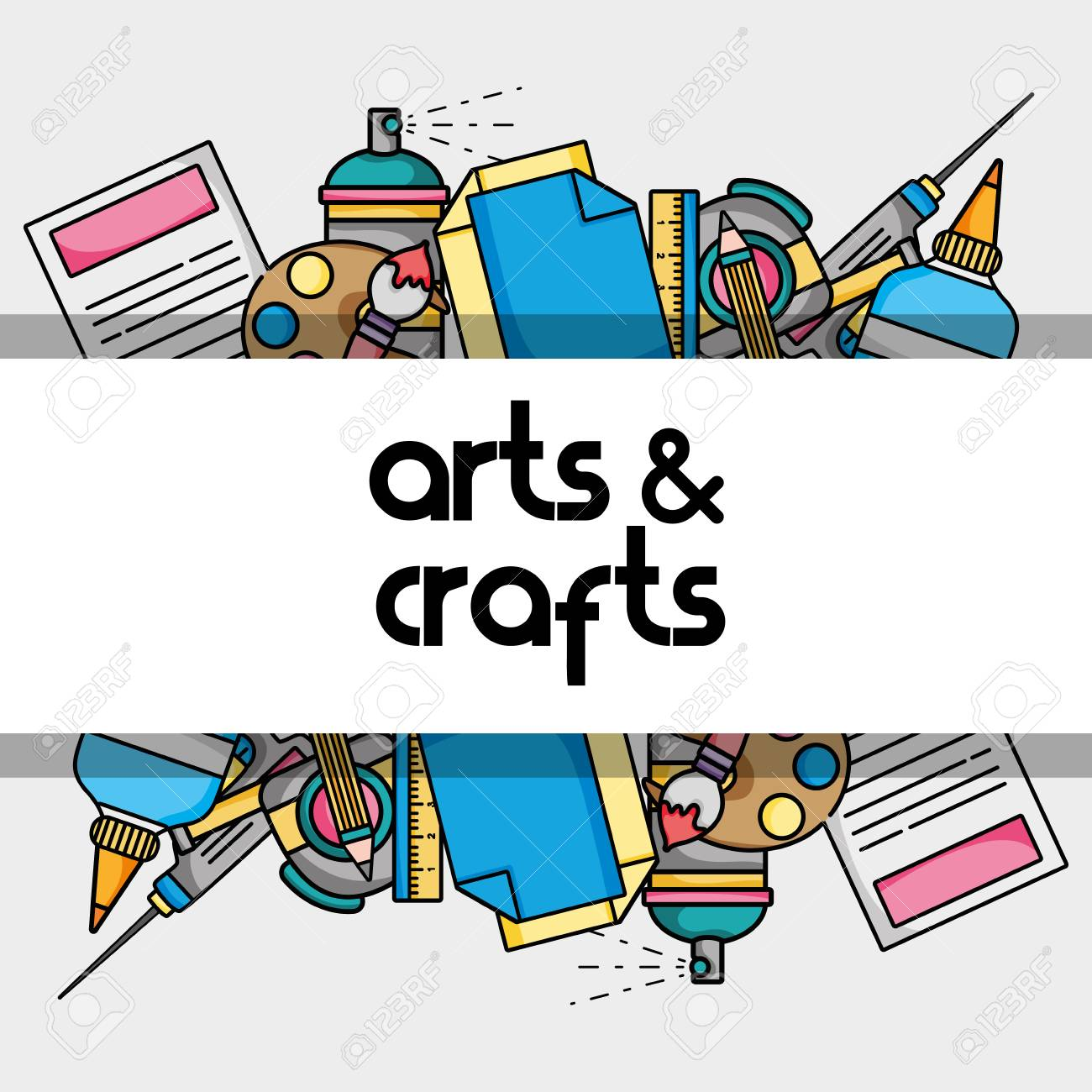 Art And Craft Creative Object Design Royalty Free Cliparts Vectors And Stock Illustration Image 90277090