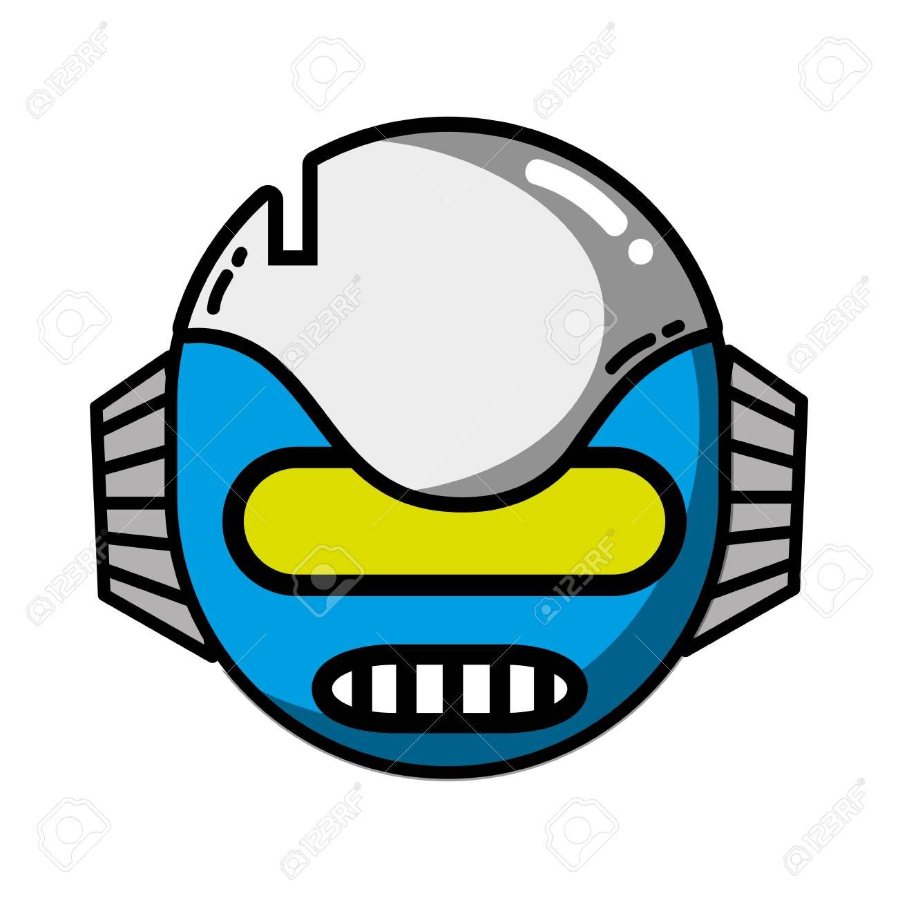 Robot mouth clipart
