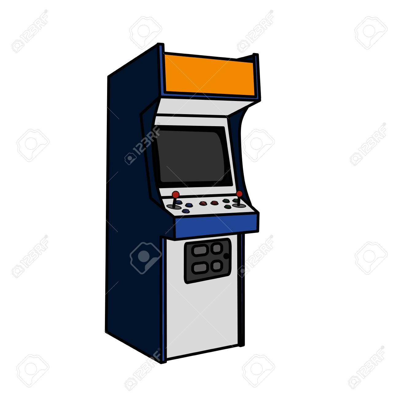Arcade Machine Of Videogame Play Retro And Technology Theme