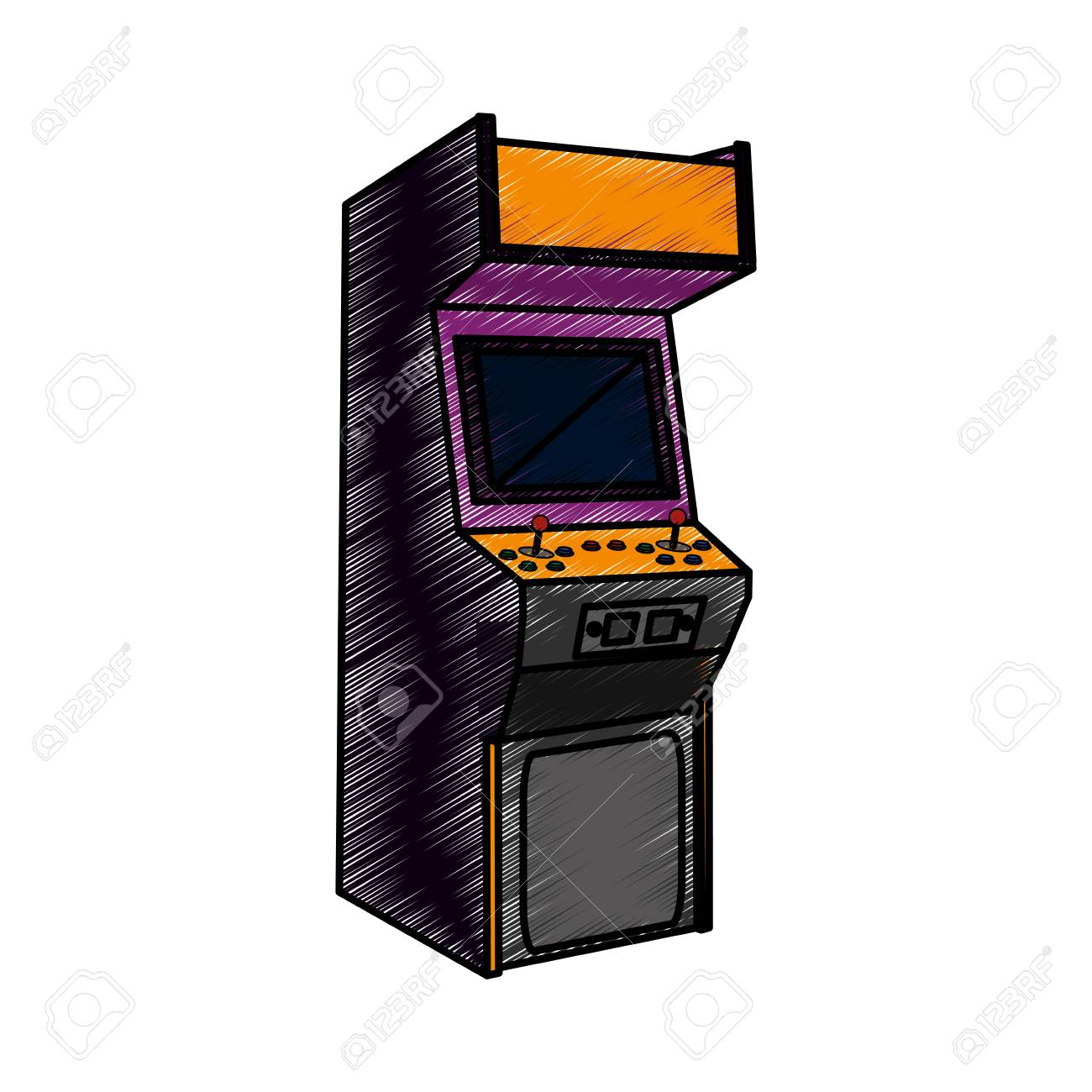 Arcade Machine Design Royalty Free Cliparts Vectors And Stock