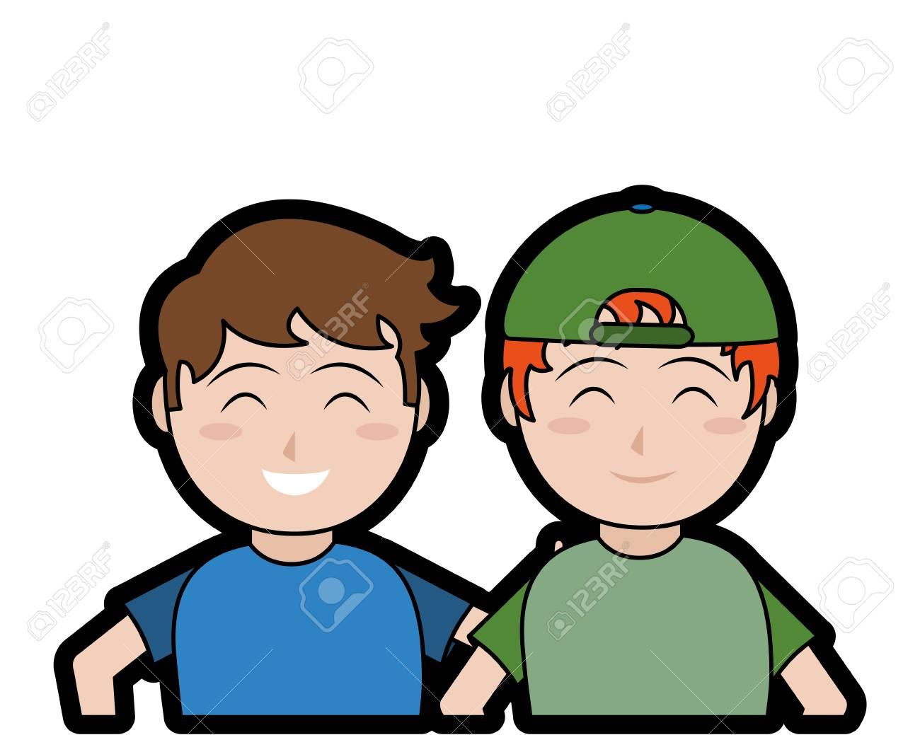 Dibujos Animados Para Niños De La Infancia Infantil Y El Tema De Personas Pequeñas Diseño Aislado Ilustración Vectorial Ilustraciones Vectoriales Clip Art Vectorizado Libre De Derechos Image 92287589