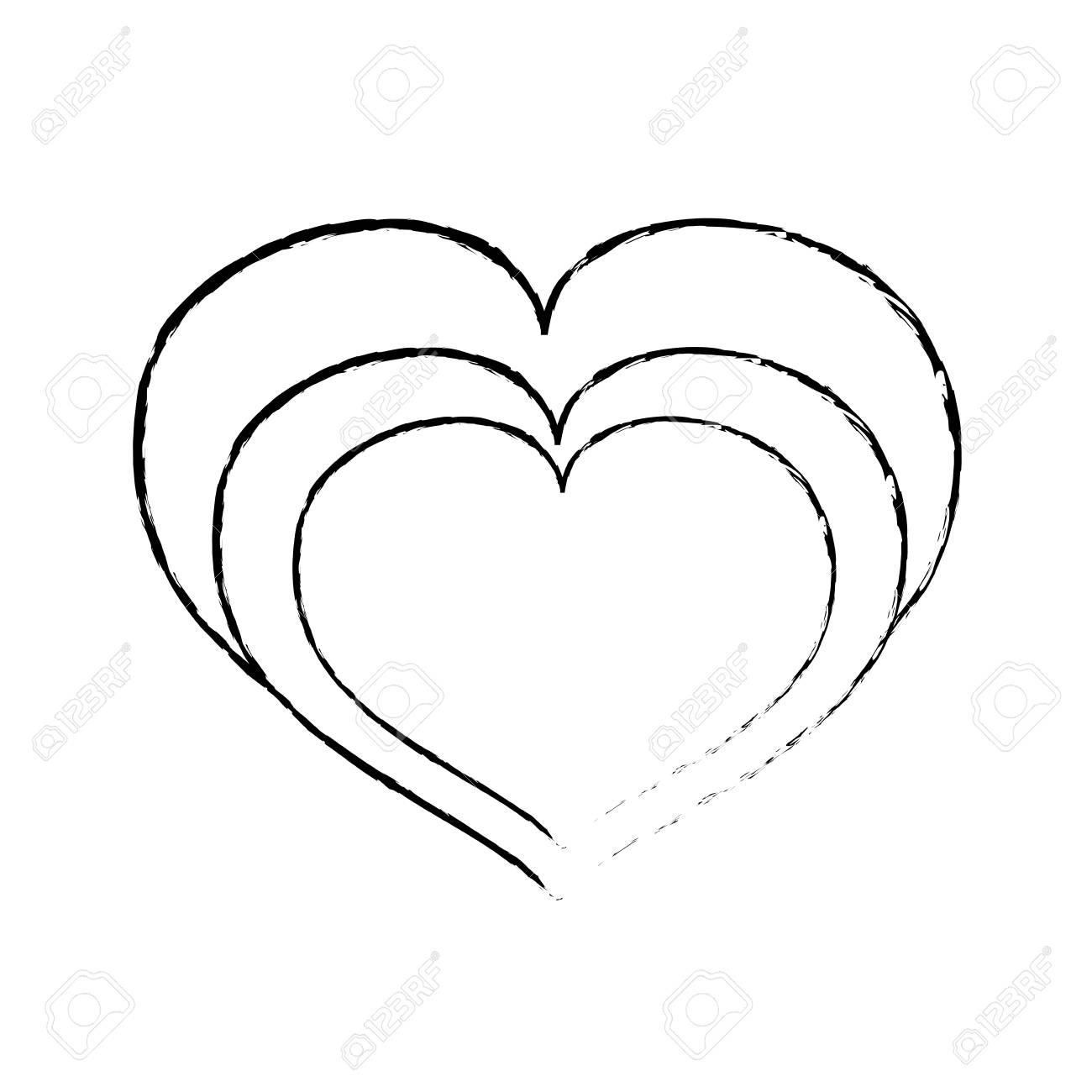 Grunge Heart Love Symbol Of Passion Royalty Free Cliparts Vectors