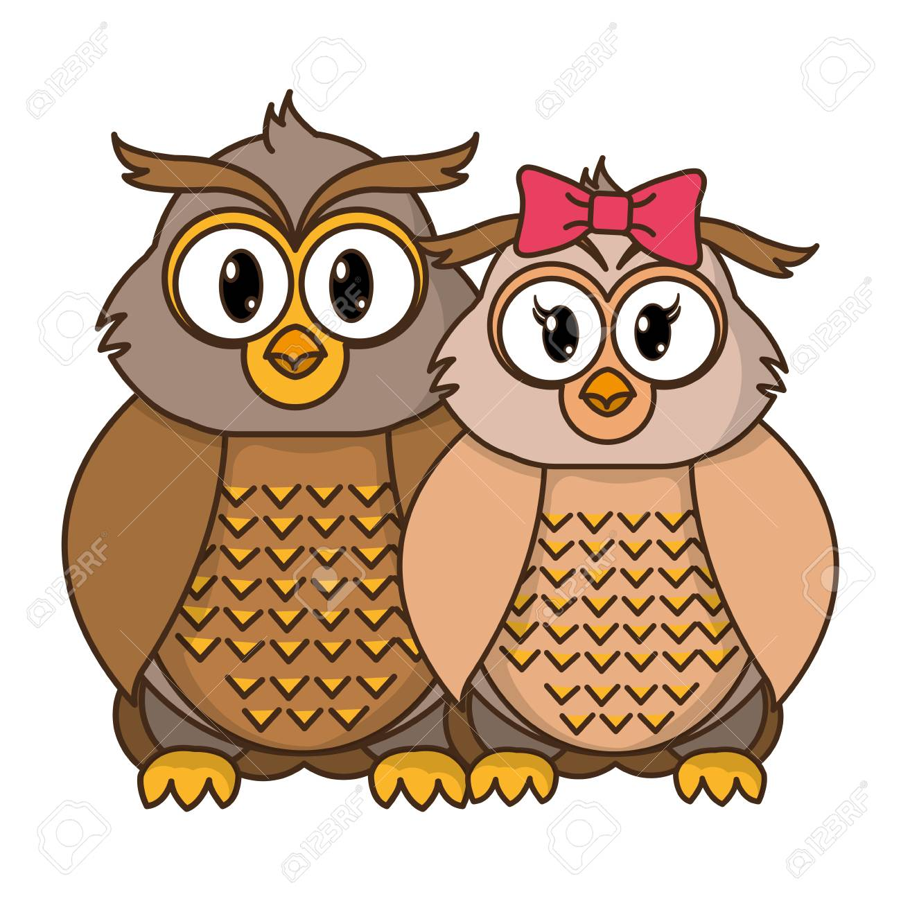 owl couple cute animal together vector illustration royalty free rh 123rf com vector owner vector owners manual
