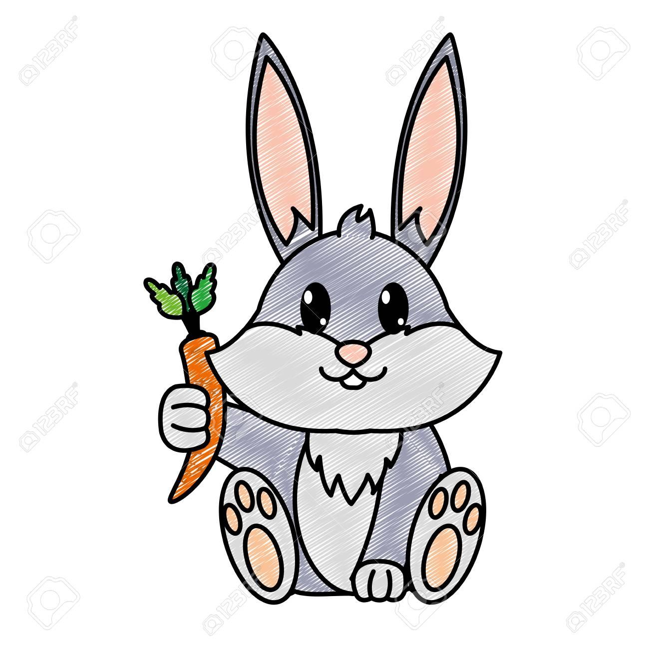 Adorable Animal Salvaje Conejo Rallado Con Zanahoria En La Mano Ilustracion Vectorial Ilustraciones Vectoriales Clip Art Vectorizado Libre De Derechos Image 95412843 Las barritas para conejos vivanimals son sabrosas y divertidas. 123rf