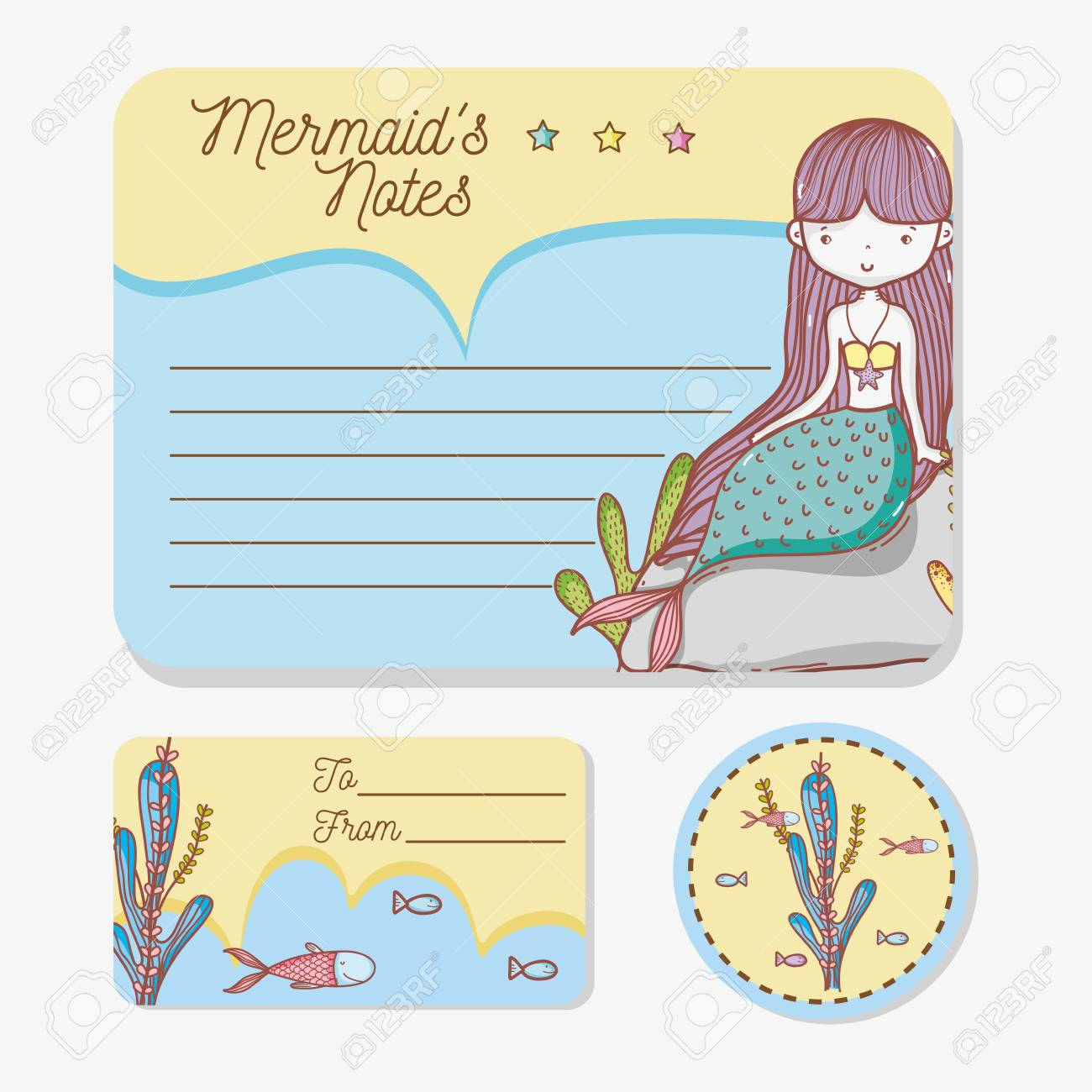 graphic about Printable Cartoons identified as Preset of printable sheets with mermaid cartoons