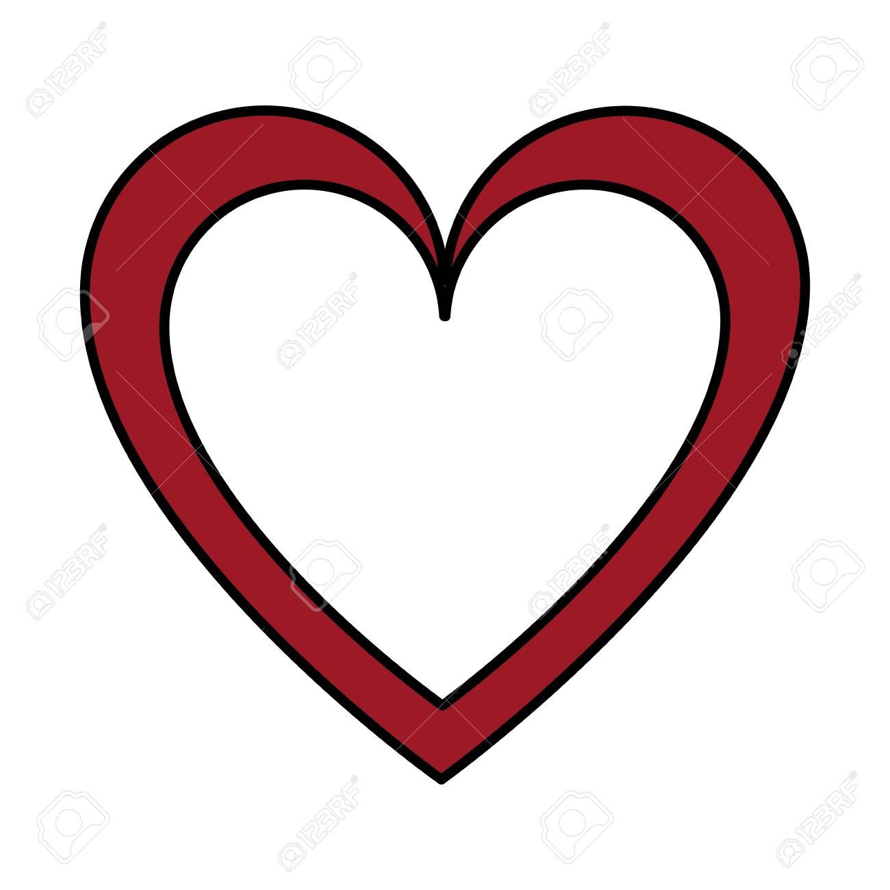 Heart Love Symbol Of Passion Design Vector Illustration Royalty Free