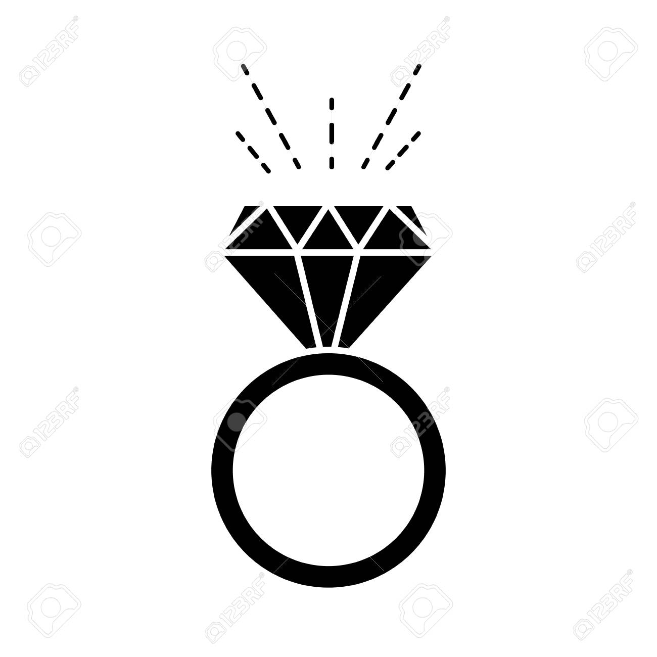 Silhouette Luxury Engagement Ring Wedding With Diamond Royalty Free Cliparts Vectors And Stock Illustration Image 97265783