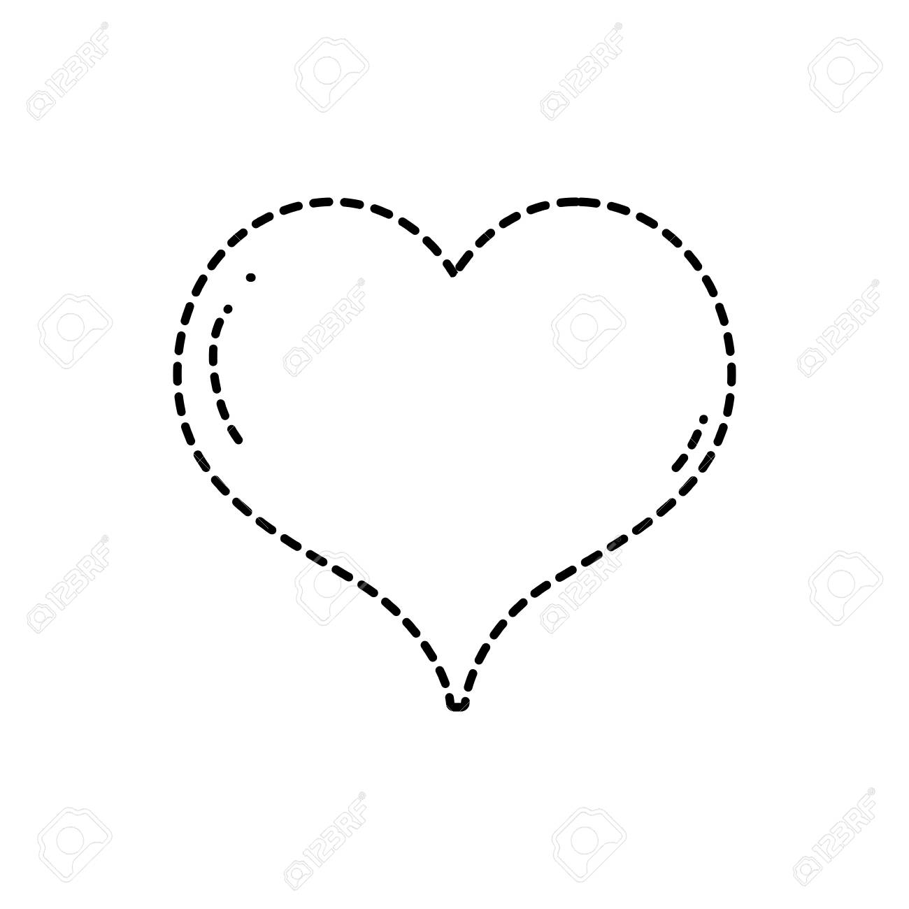 Dotted Shape Heart Love Symbol Of Passion Art Royalty Free Cliparts