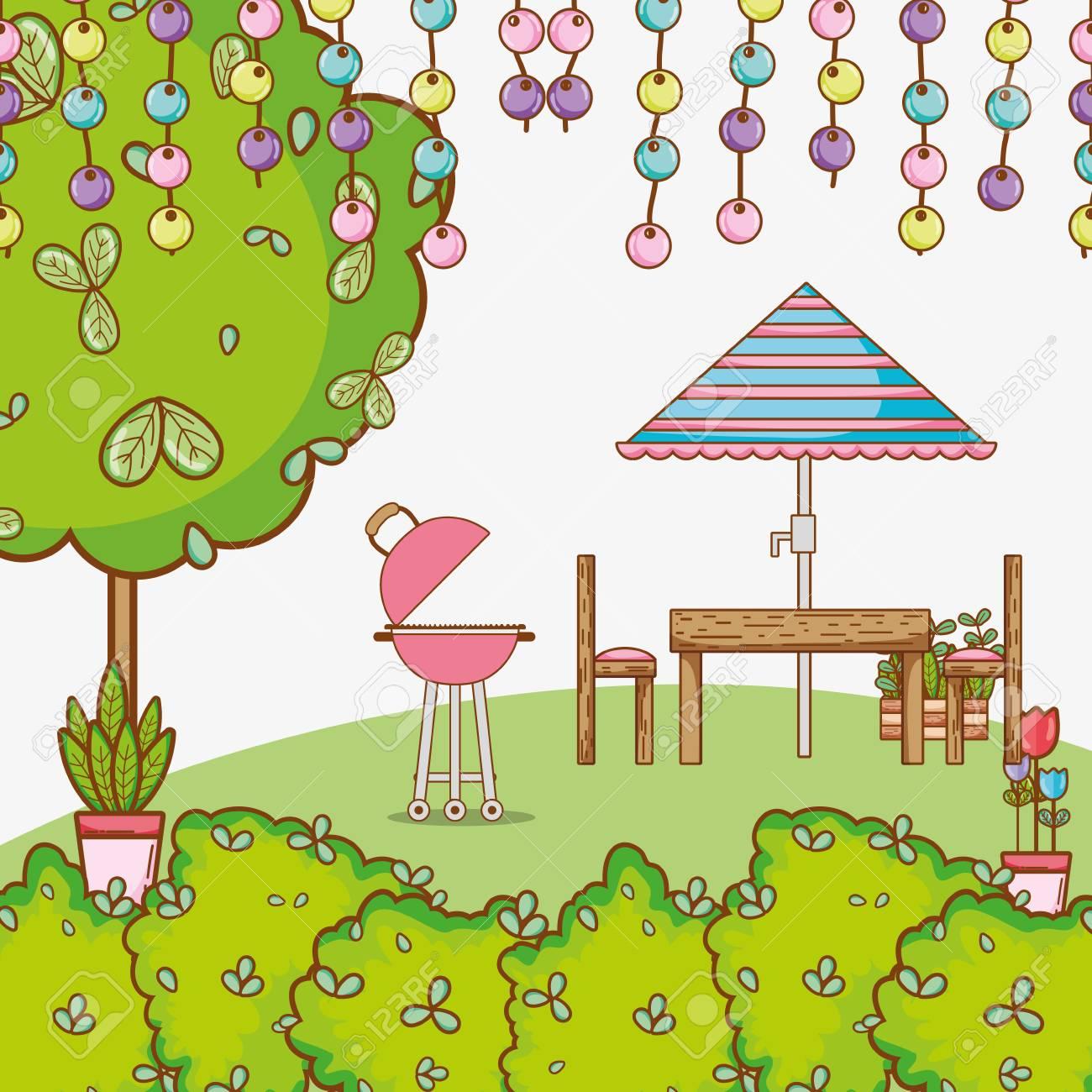 Garden Design Cartoon