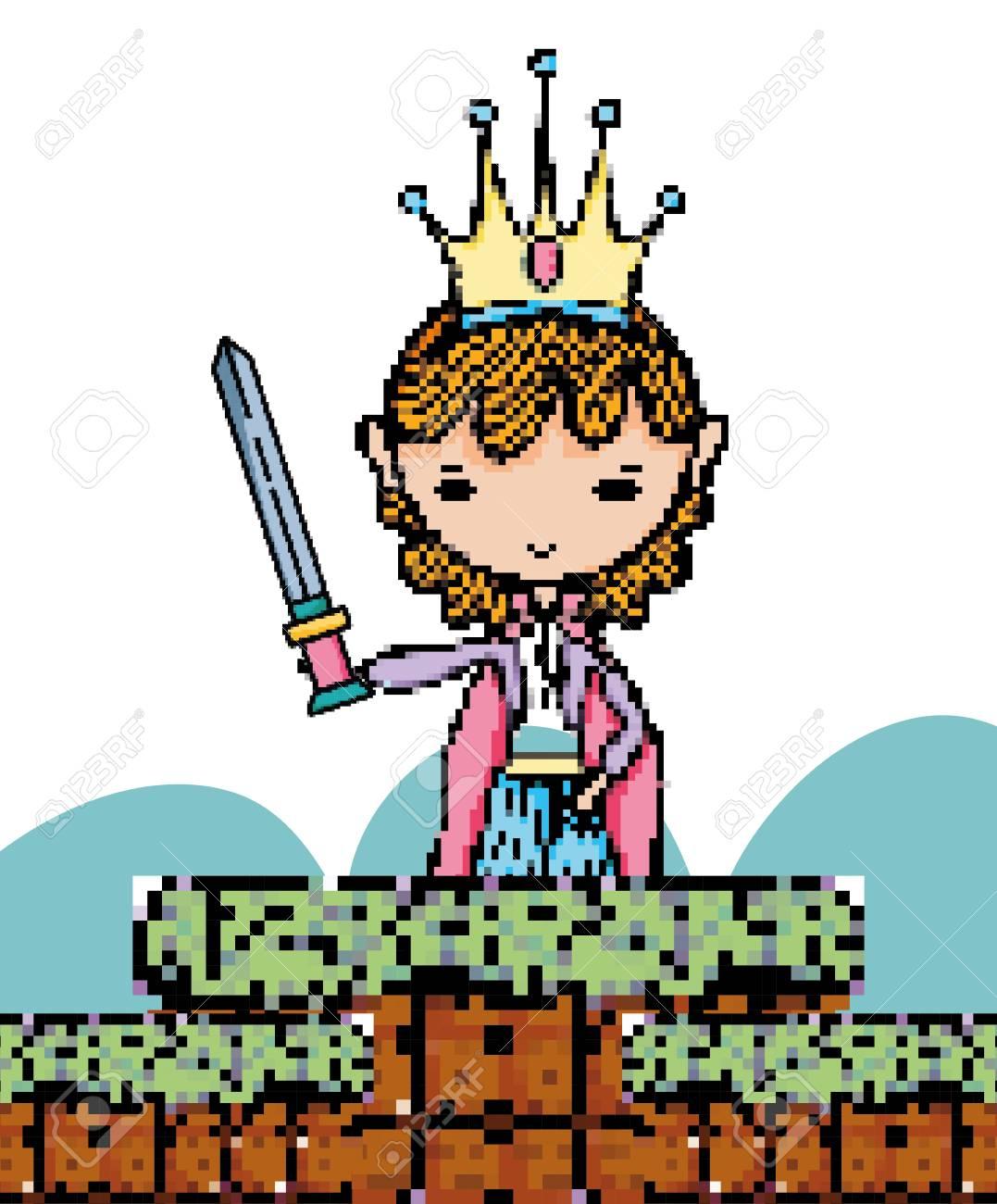 Pixel art fantasy cartoon