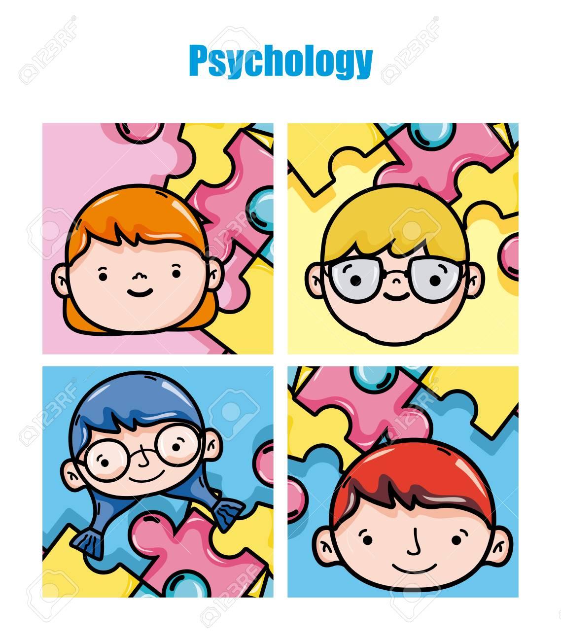 Niños De La Psicología Ilustración Vectorial De Dibujos Animados Diseño Gráfico