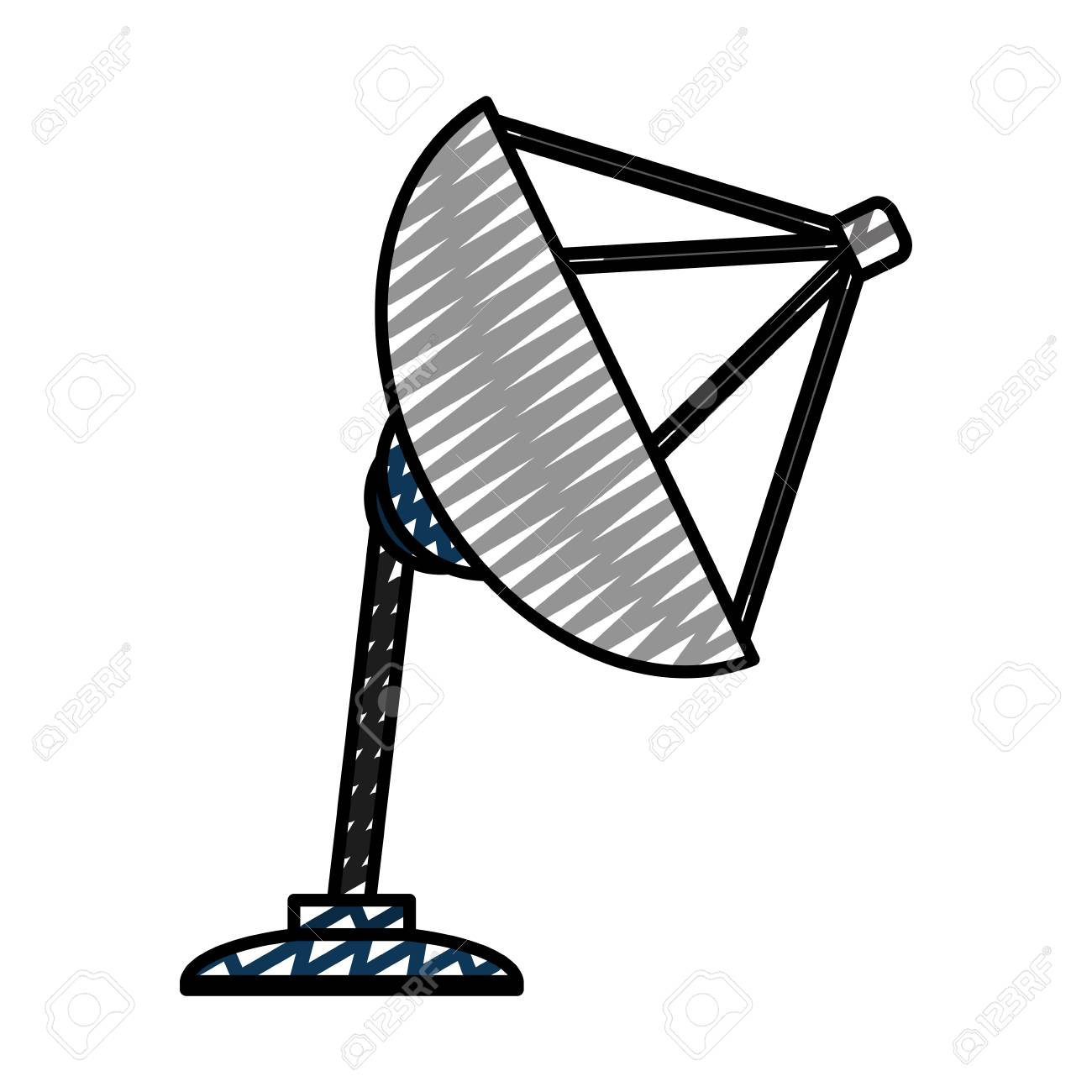 Doodle Digital Tv Antenna Equipment Technology Stock Photo Picture 105700221