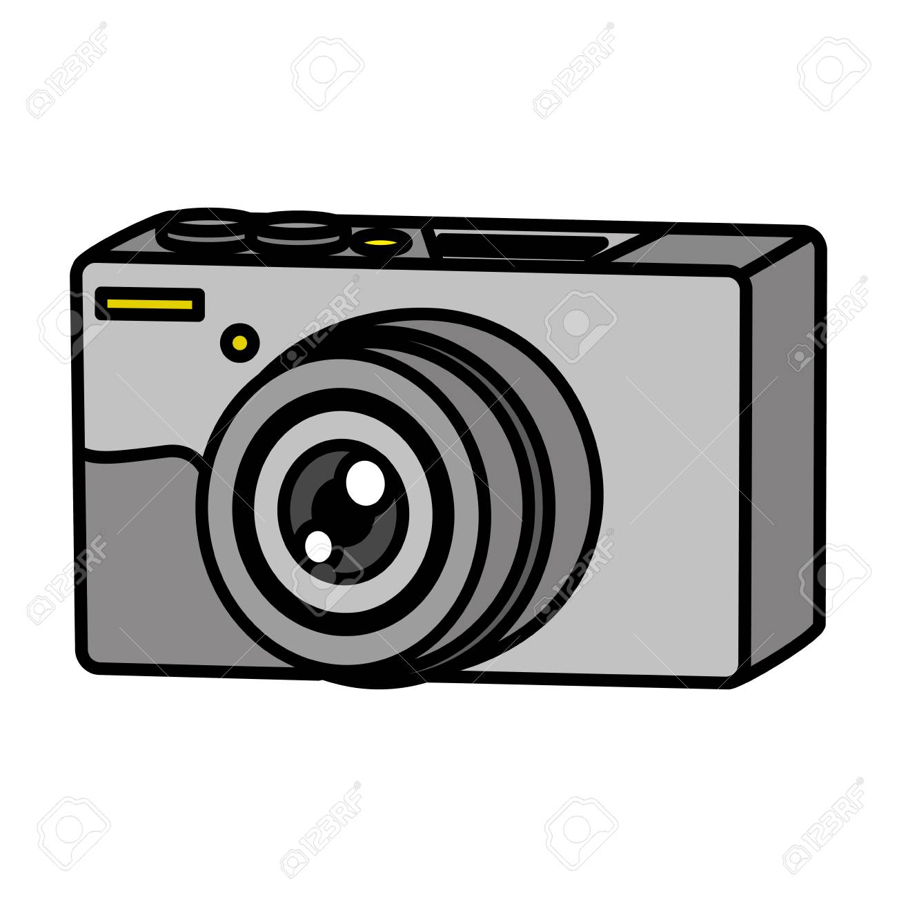 Color Professional Digital Camera Technology Object Vector Illustration Royalty Free Cliparts Vectors And Stock Illustration Image 111770458