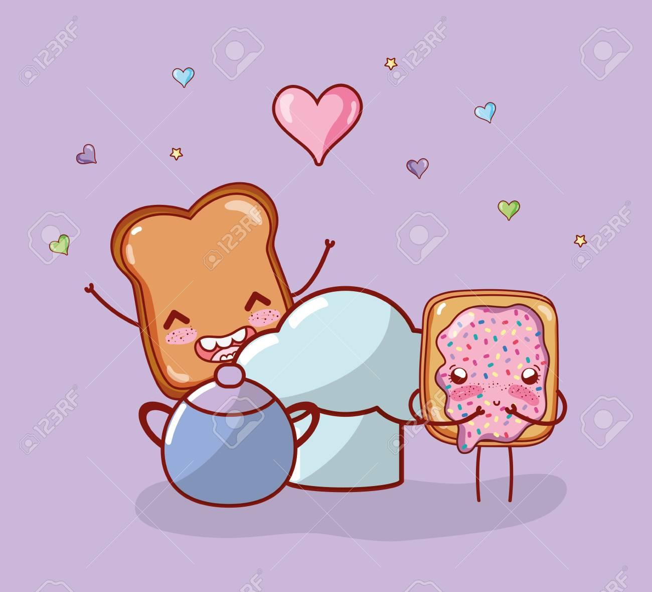 Kitchen Items Cartoon Kawaii Cartoon Stock Photo Picture And Royalty Free Image Image 110511840