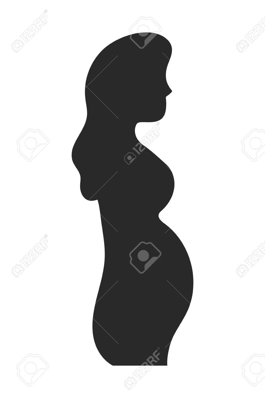 Pregnant woman design, Concept of belly pregnancy maternity female mother and expecting Vector illustration - 127702008