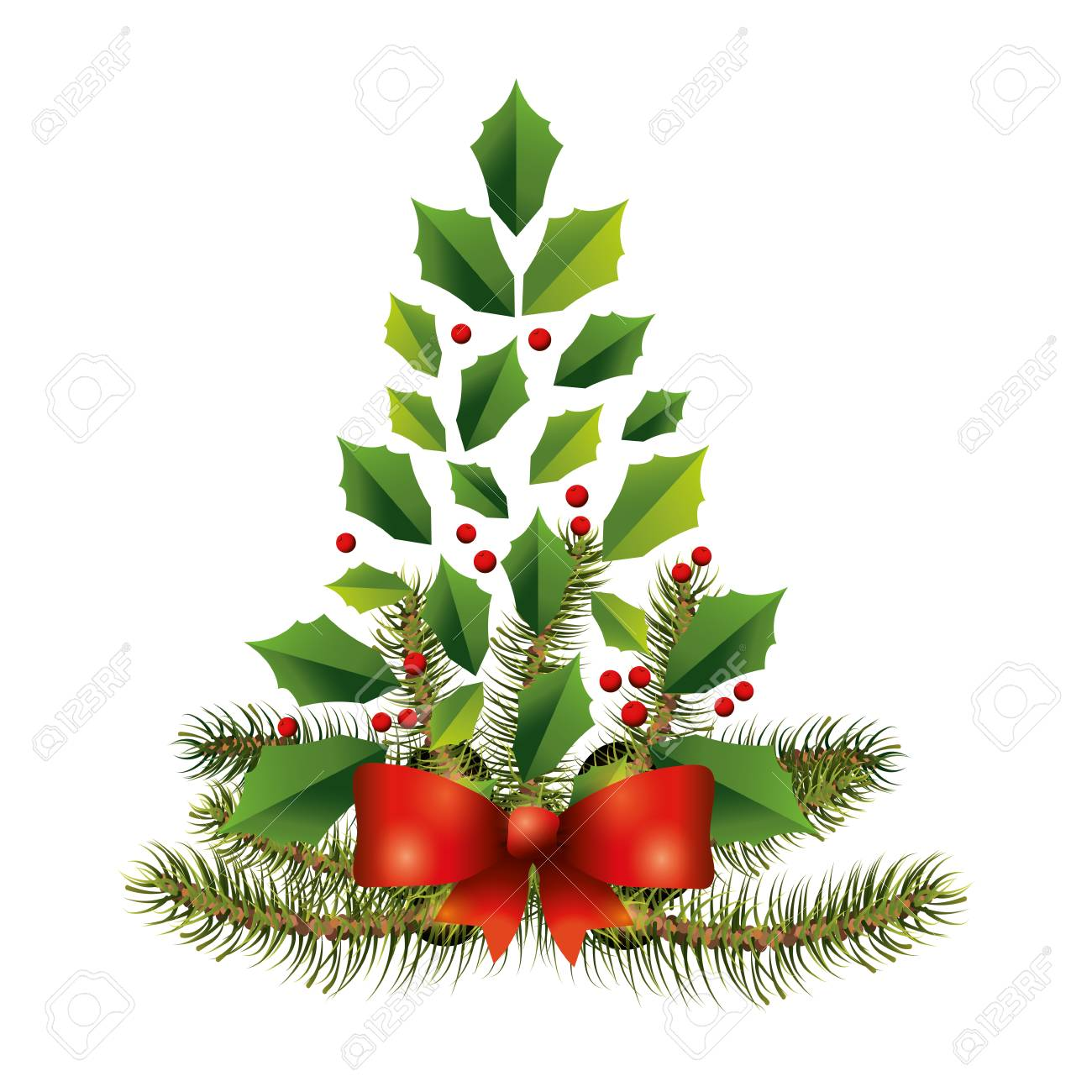 Luxury And Elegant Christmas Tree With Christmas Decoration Royalty Free Cliparts Vectors And Stock Illustration Image 112581110