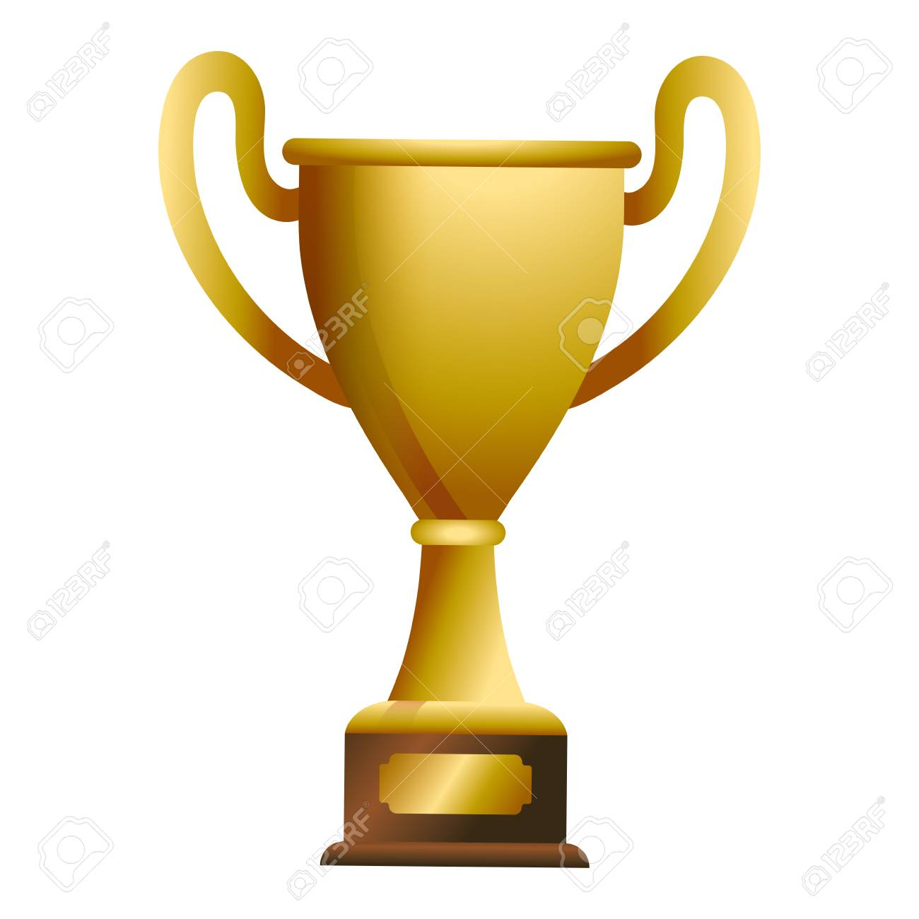 Trophy cup award on wooden box vector illustration graphic design vector illustration graphic design - 124831965