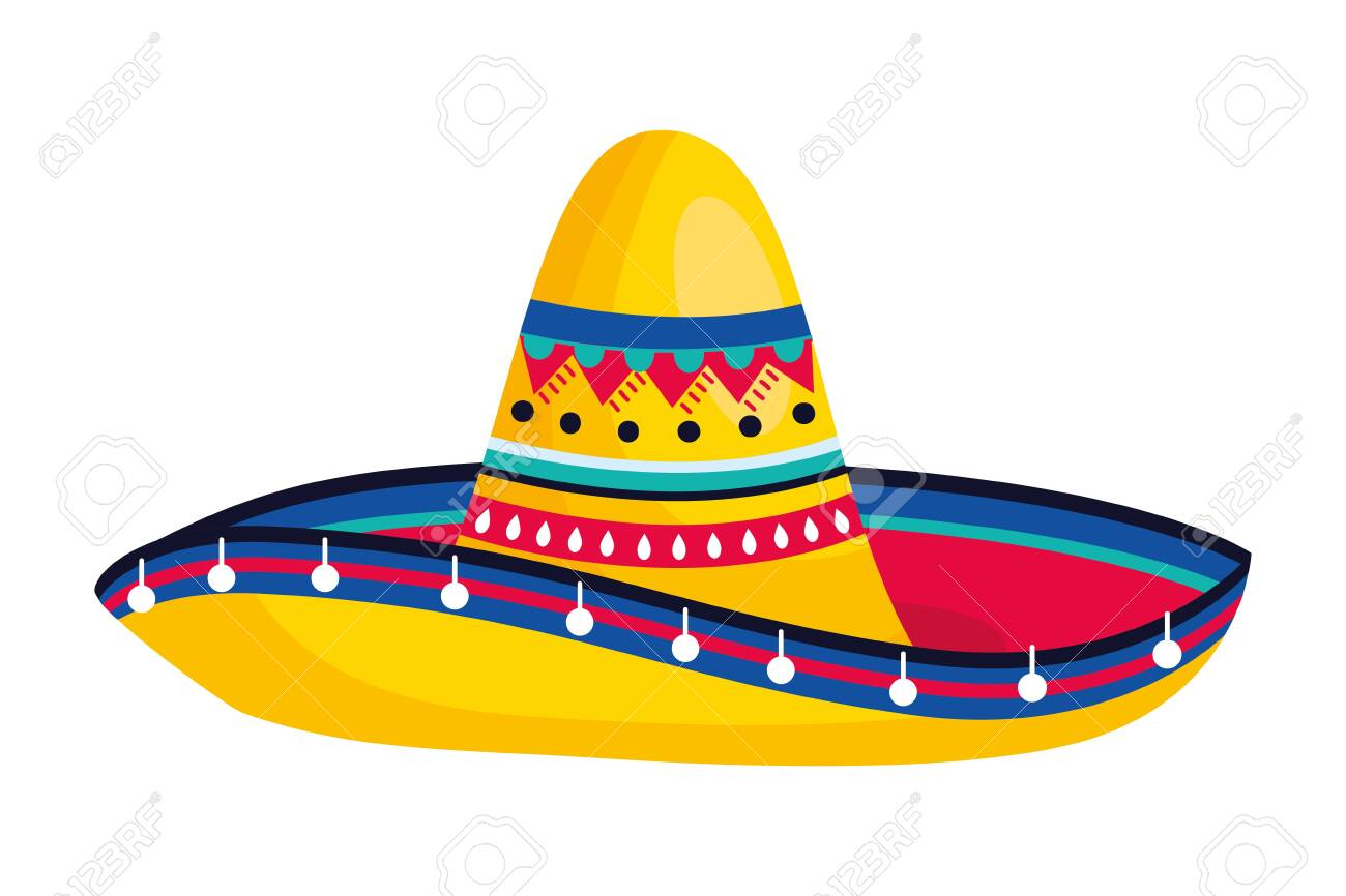 Mexican Culture Mexico Mariachi Hat Cartoon Vector Illustration Royalty Free Cliparts Vectors And Stock Illustration Image 124124708
