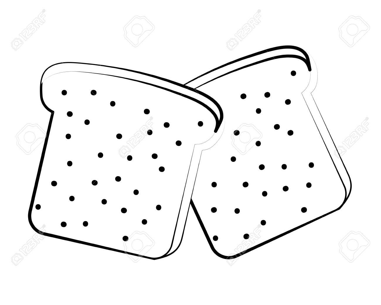 delicious tasty food toast bread cartoon vector illustration graphic design - 122940910