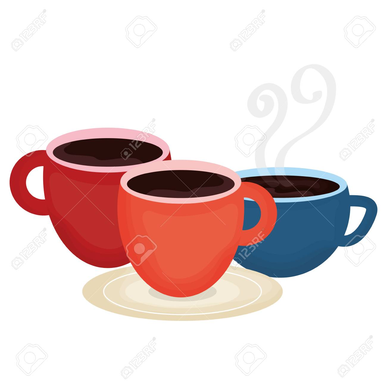 coffee cups drinks icons vector illustration design - 122748889